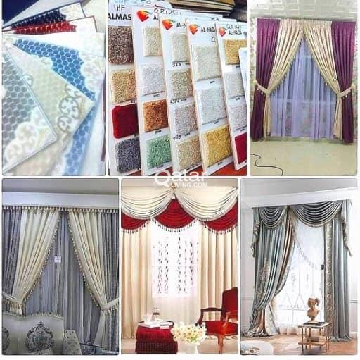we do all sofa/ curtain/wallpaper/Carpet making or