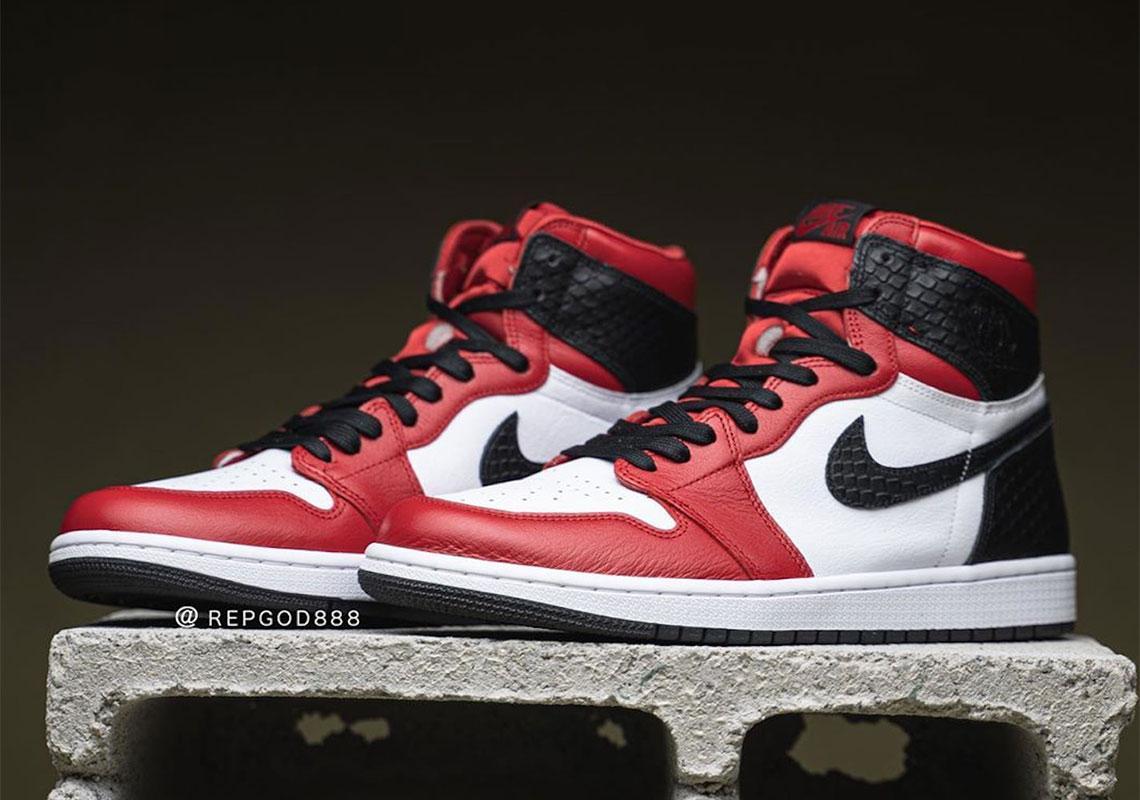 Jordan 1 High OG Satin snake skin size 10W US or 8