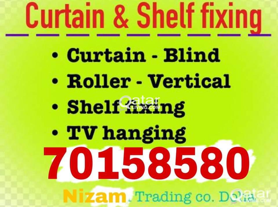 We do all type curtain fixing sofa making with car