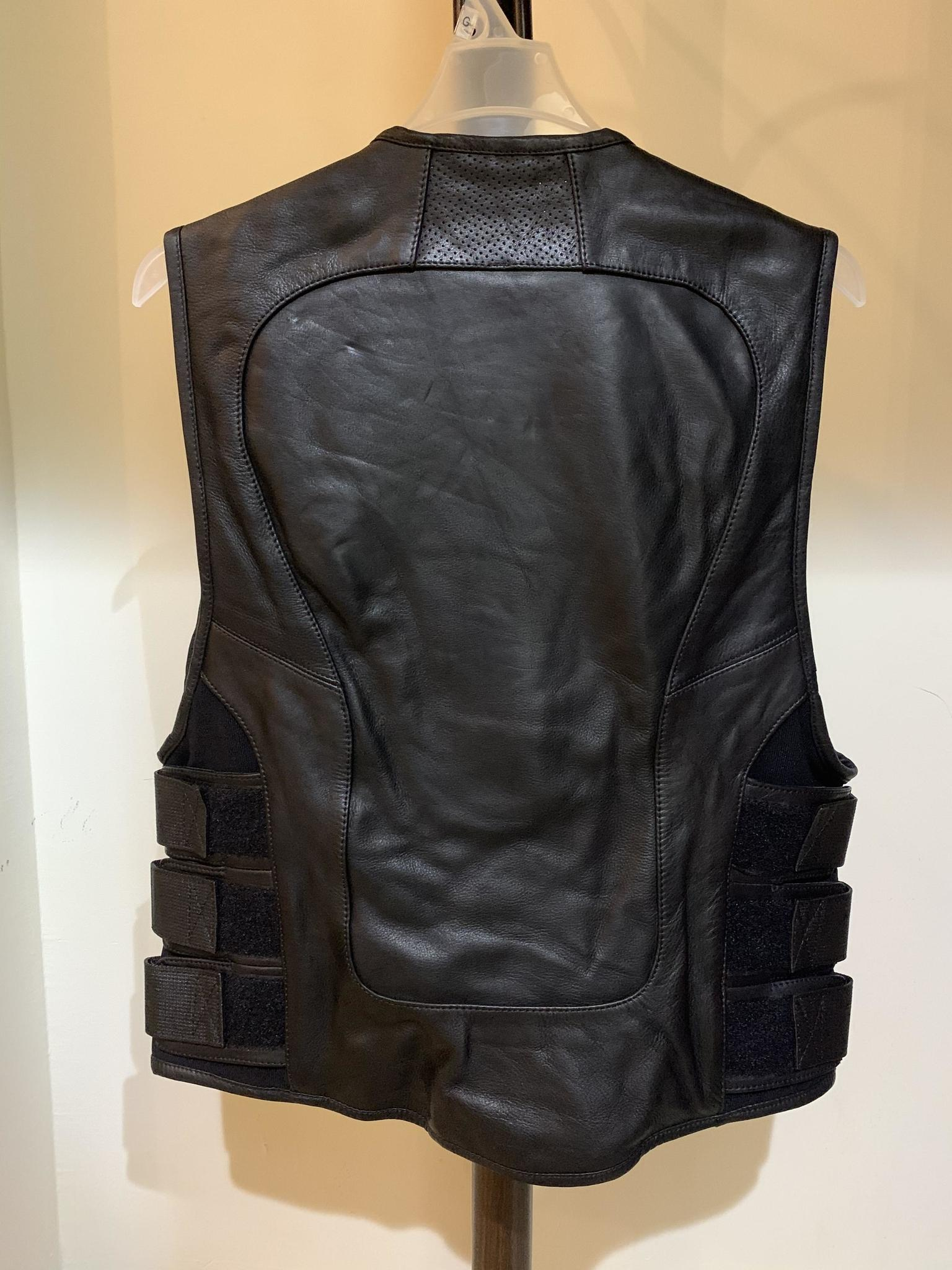 Biker Leather Vest Large with protection