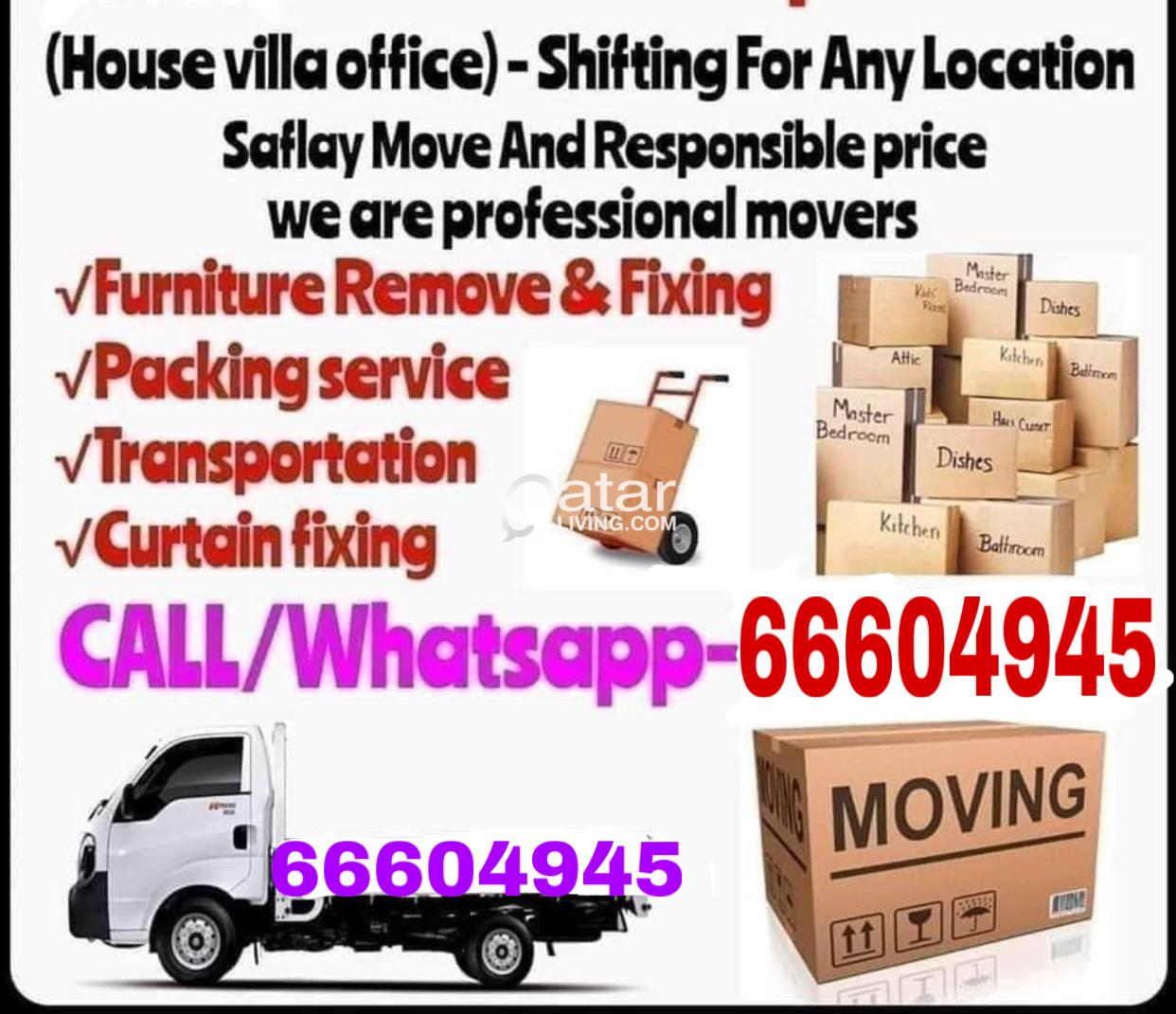 Shifting and moving WhatsApp me 66604945