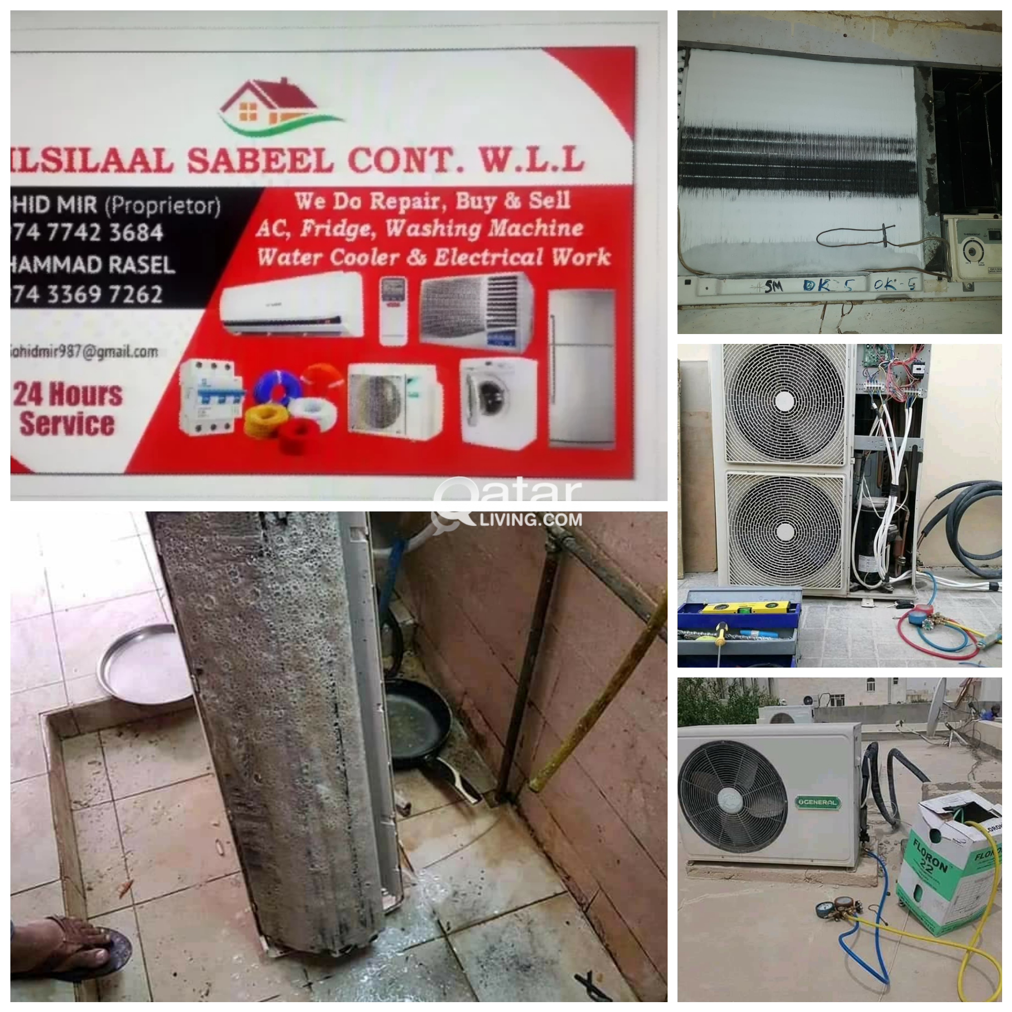 Split, Window AC servicing, repairing and all Elec