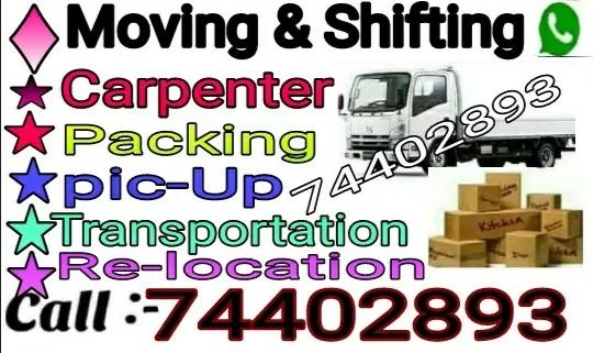Moving..Shifting..Carpenter..Transportation servic