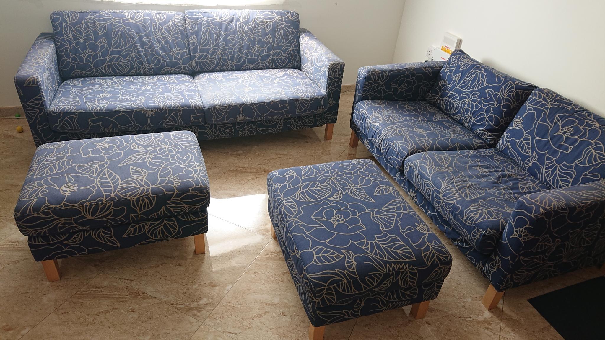 4 pieces Sofa Set IKEA Karlstad 3+2