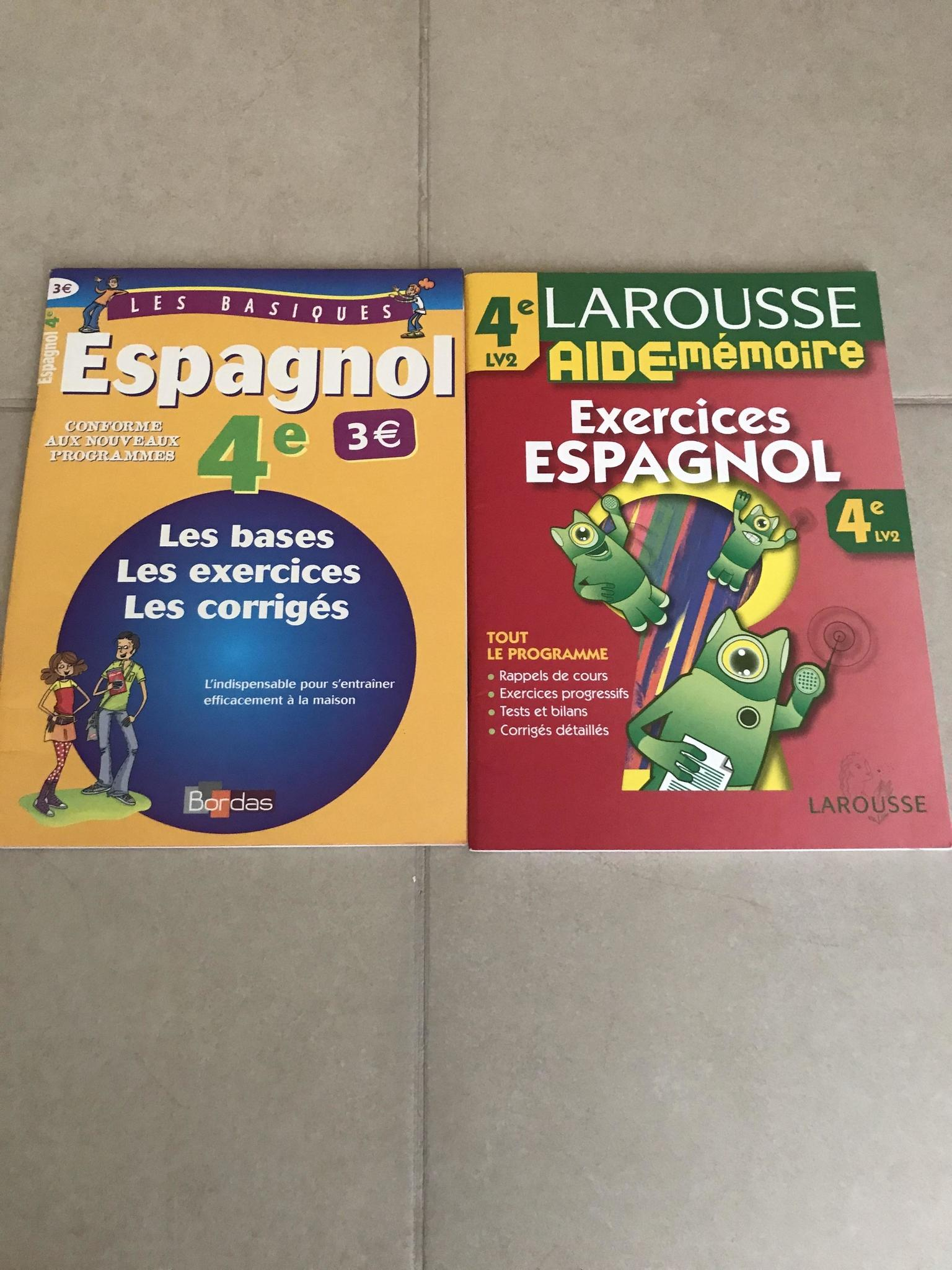 Spanish exercise  and answers notebook for French