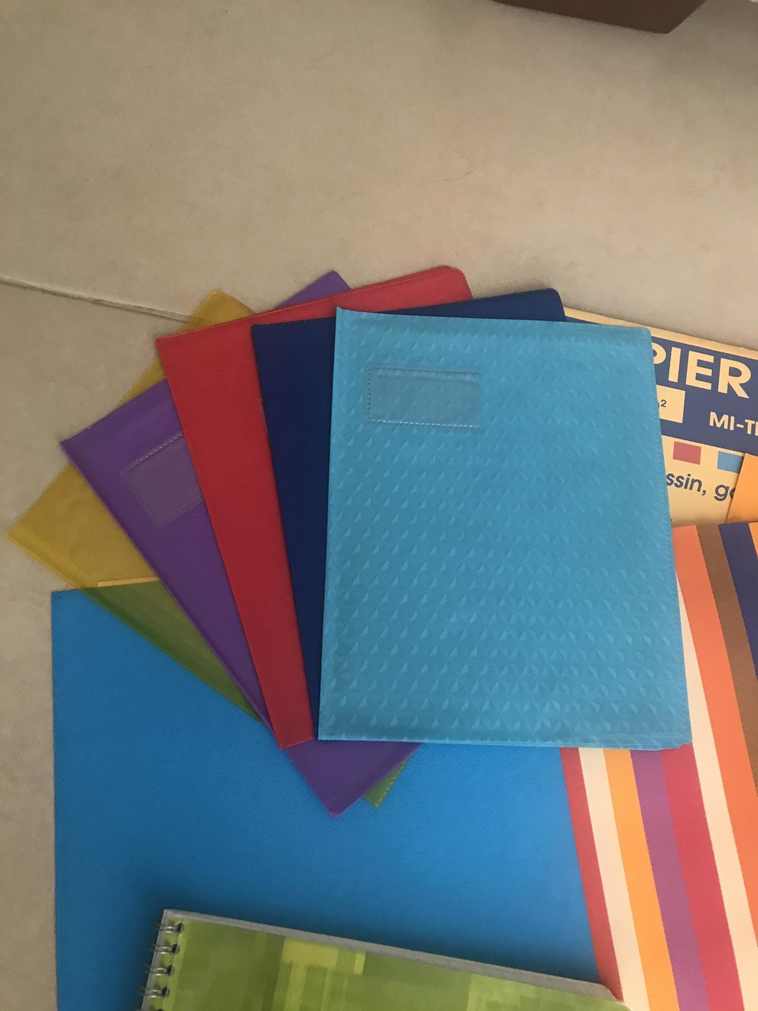 Colored drawing  paper , covers for books, window