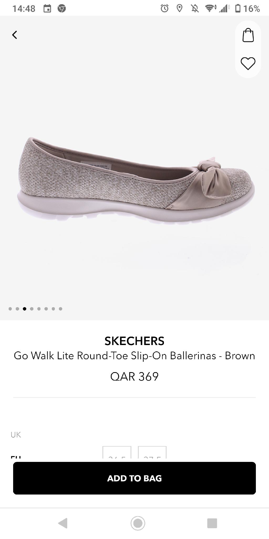 Skechers Walk Lite Slip-on Ballerinas. Almost NEW