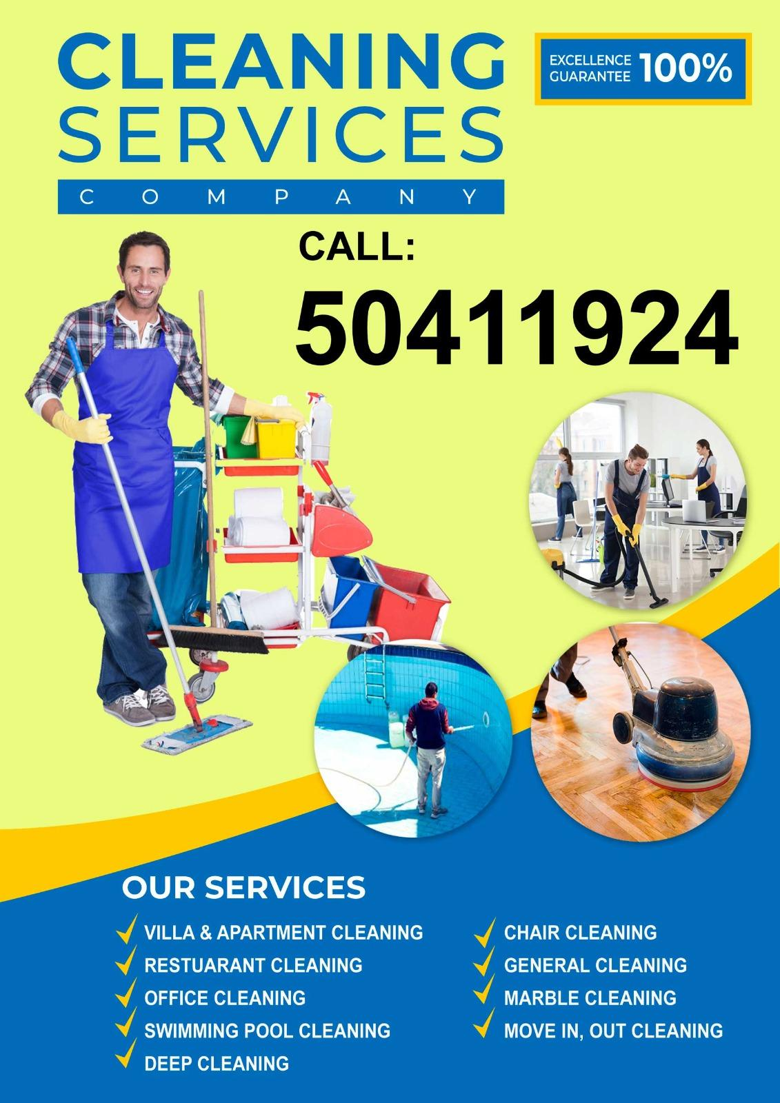 Cleaning services company. Please call 50411924