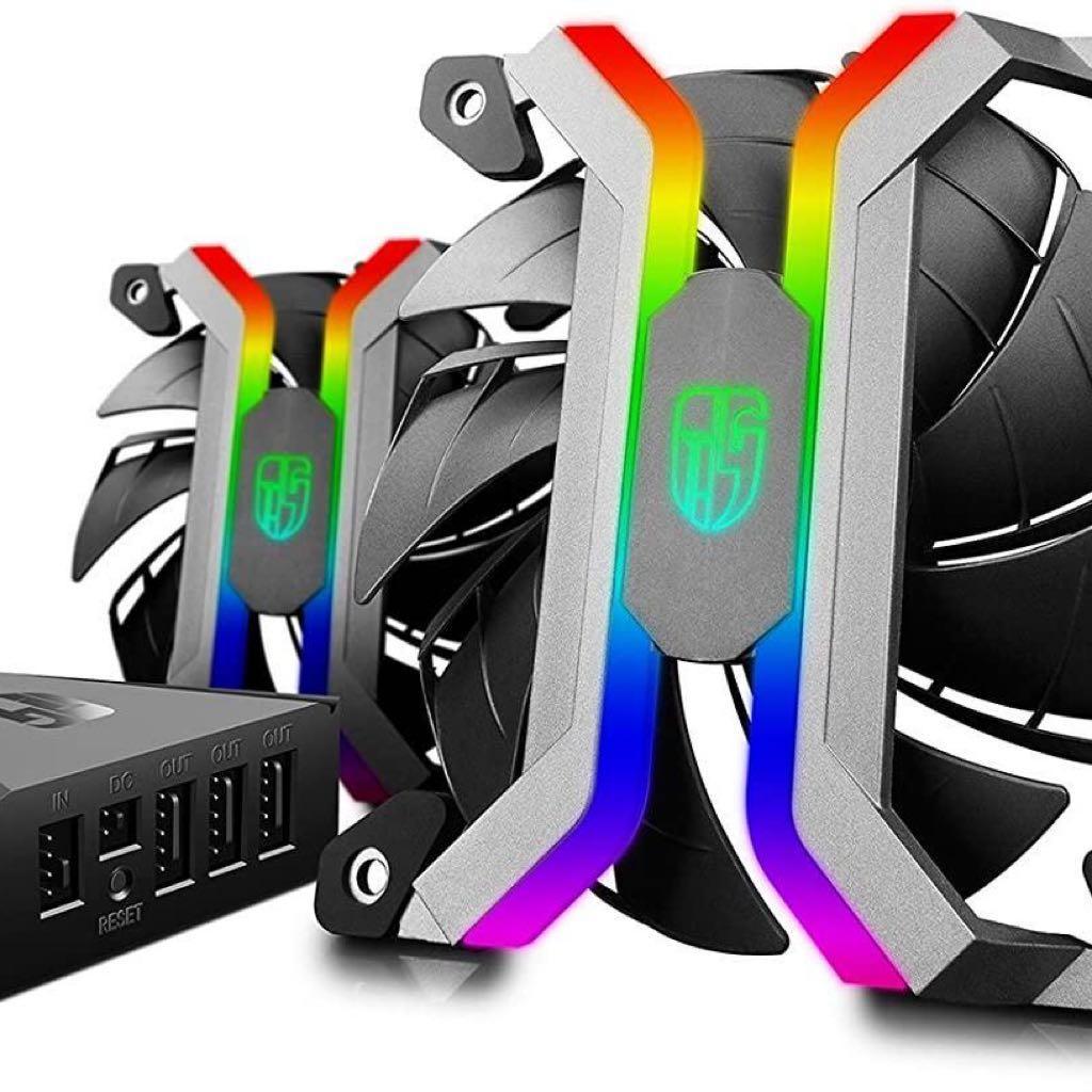 DeepCool MF120 PWM Smart RGB Fans with Aluminium F