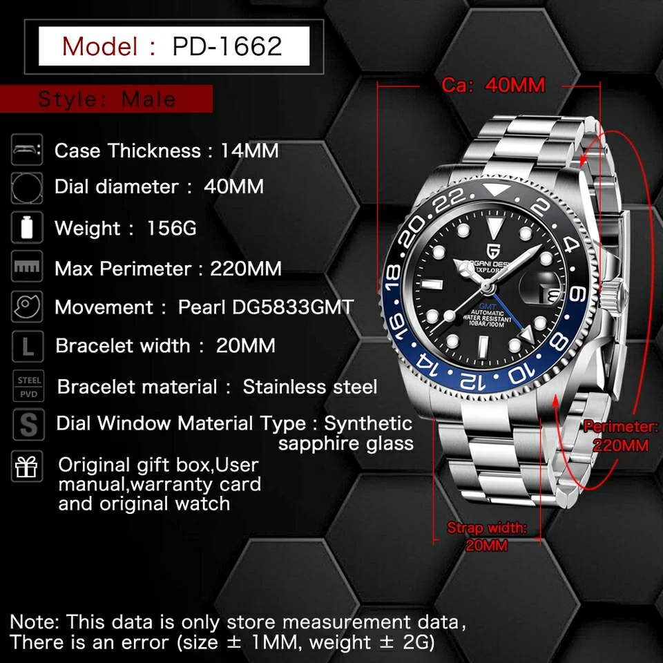 PAGANI DESIGN Men Mechanical watch