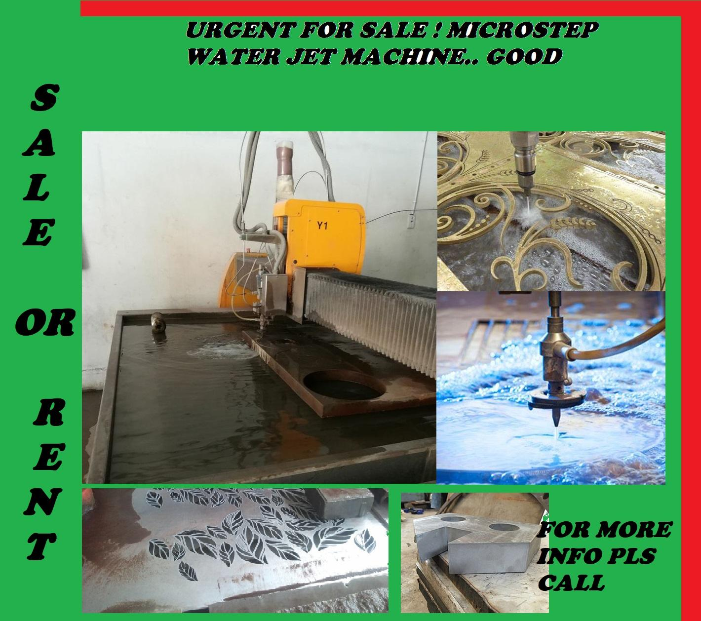 WATER JET MACHINE MICRO STEP! URGENT FOR SALE!!