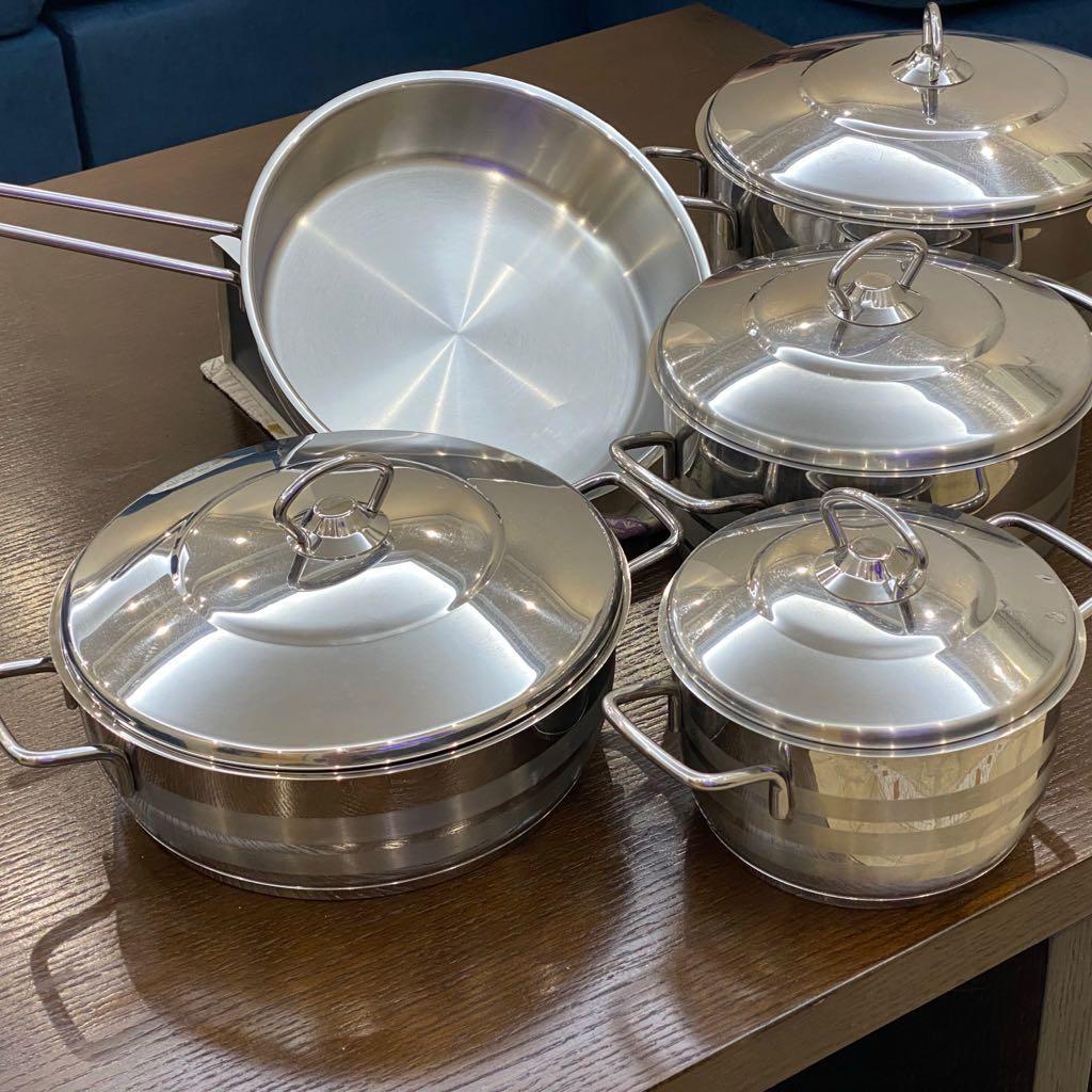 Stainless Steel Turkish Korkmaz Cooking Set