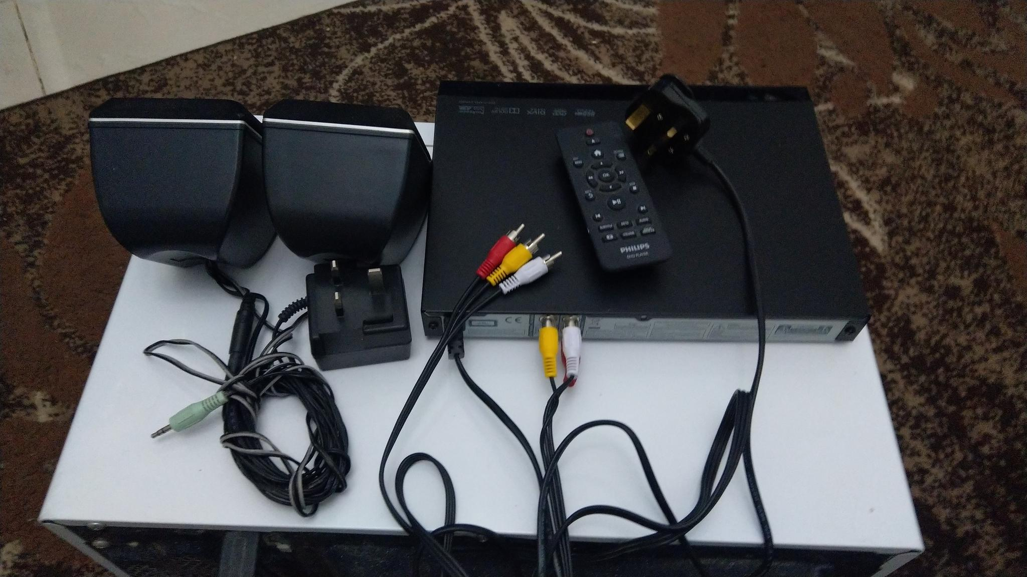 Philips DVD player  with USB, remote , cable  with