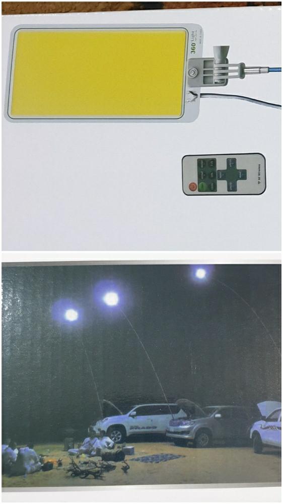 Beach light LED strong ليت صنارة كشاف
