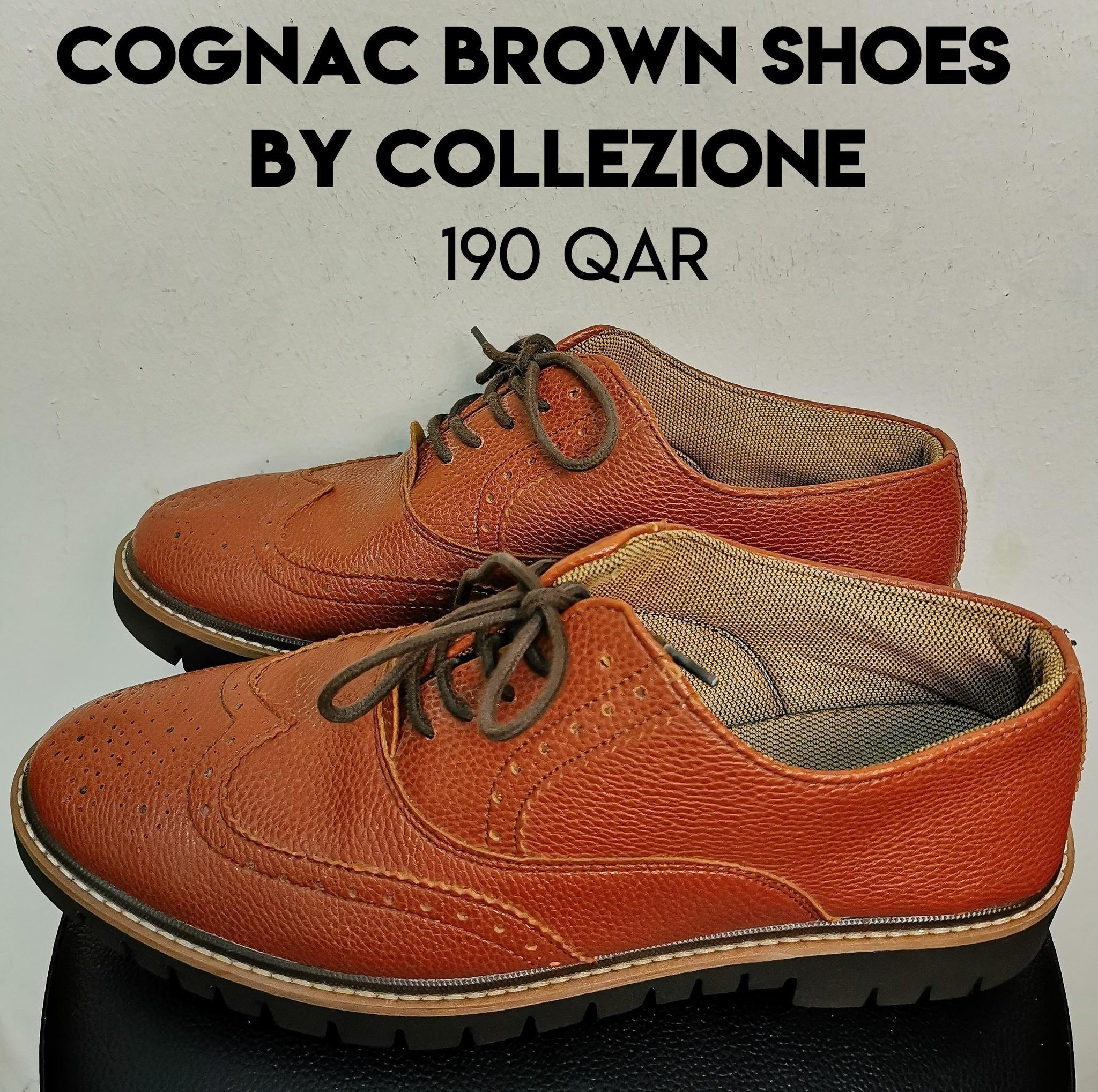 Cognac Brown Shoes by Collezione (43 EU)