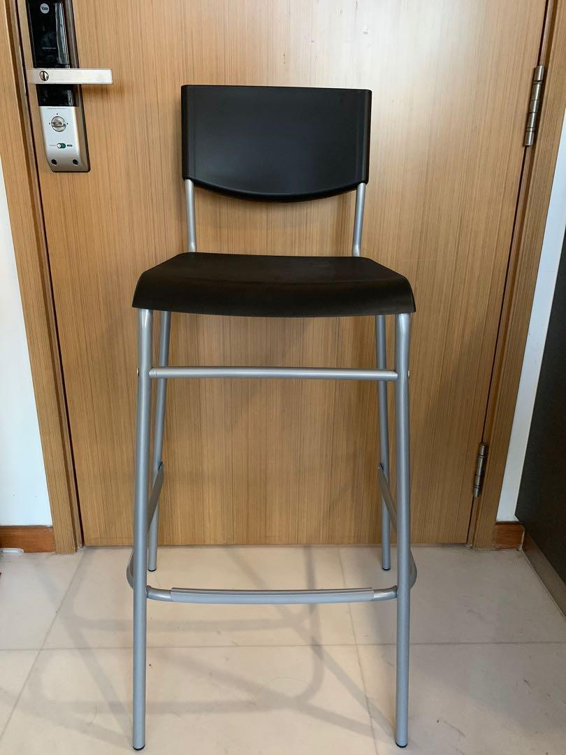 IKEA Bar Stool with backrest. STIG