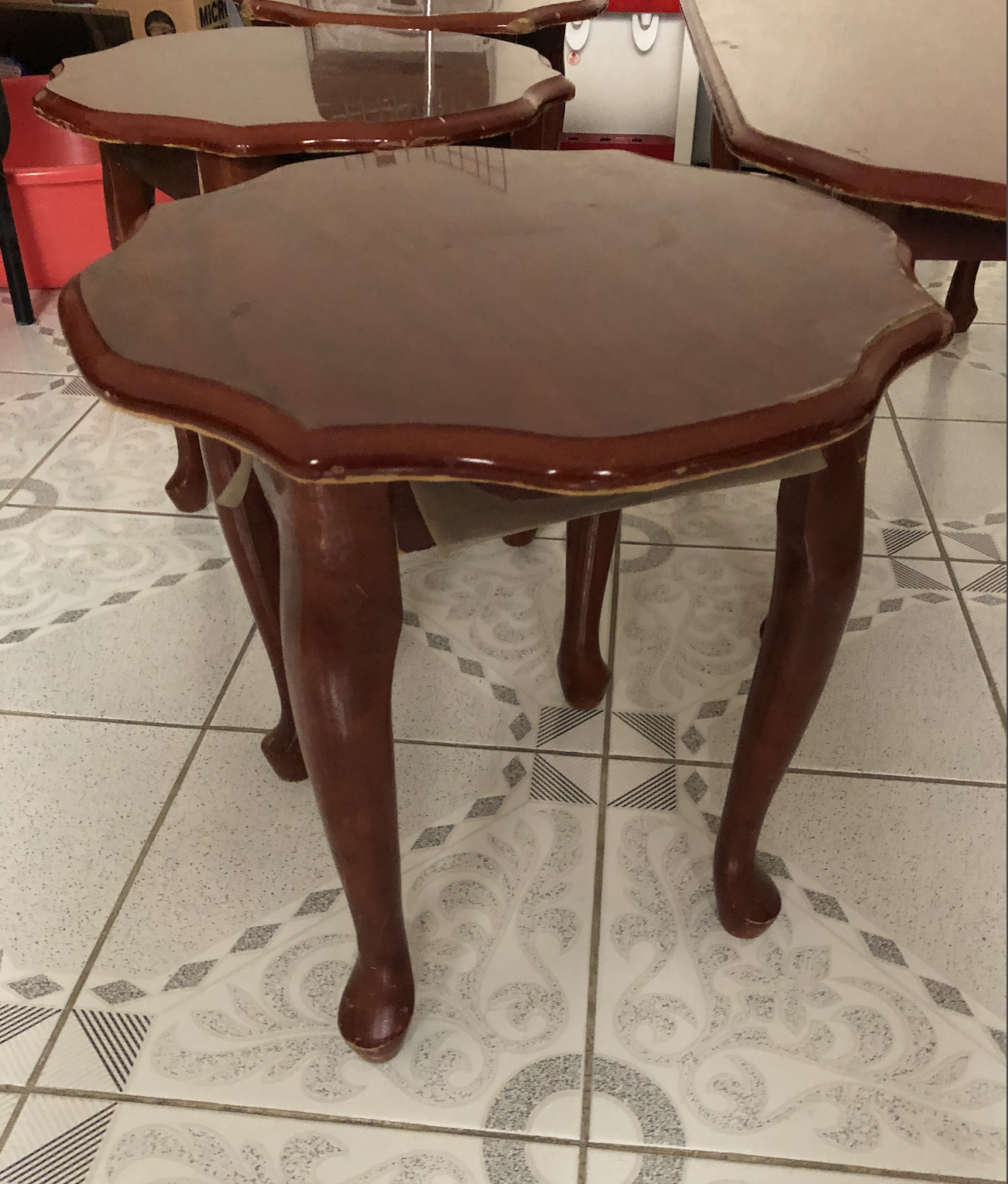 Table set - 1 large coffee table and 3 small table