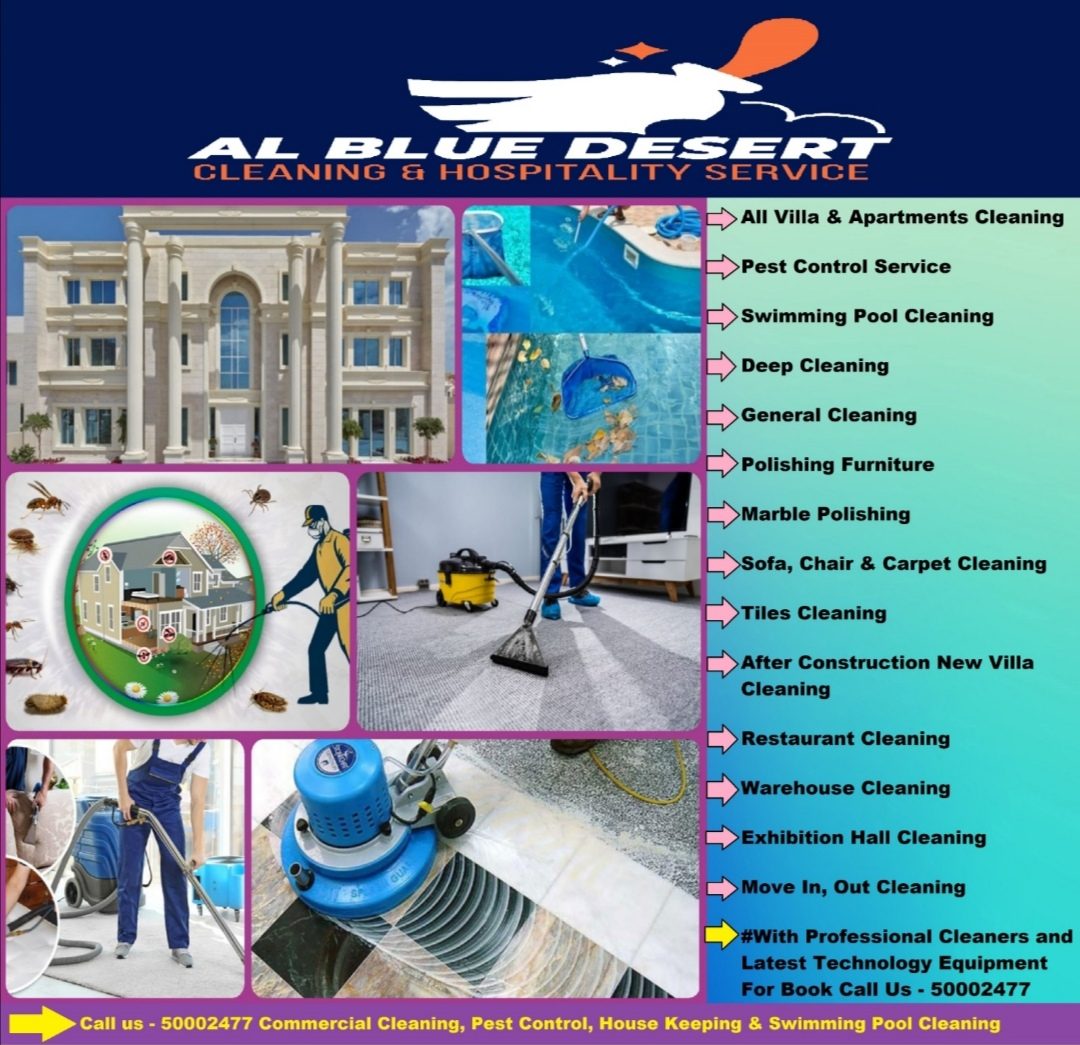 Call us - 50002477 Commercial Cleaning, Pest Contr