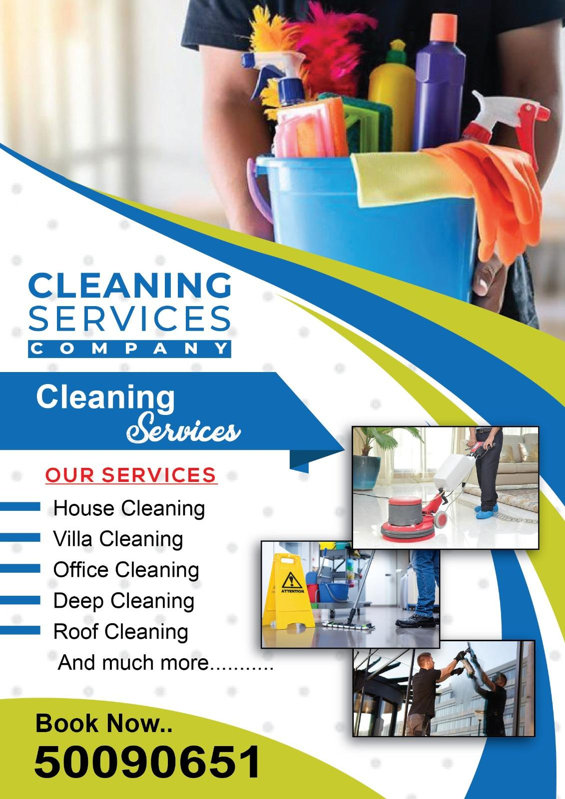 All type of cleaning at your Service. Please call