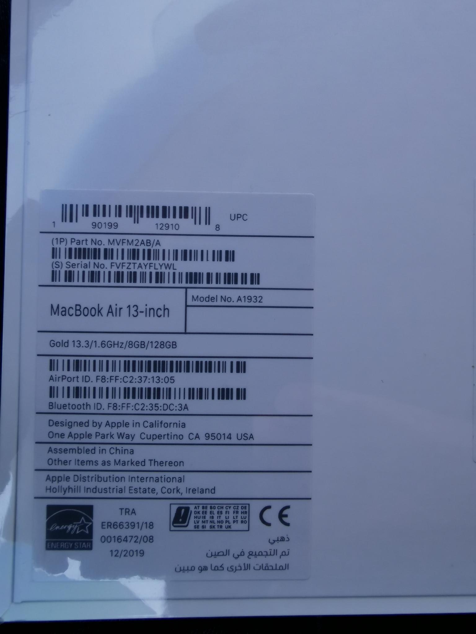 Brand new Apple MacBook Air (13-inch) dual-core In