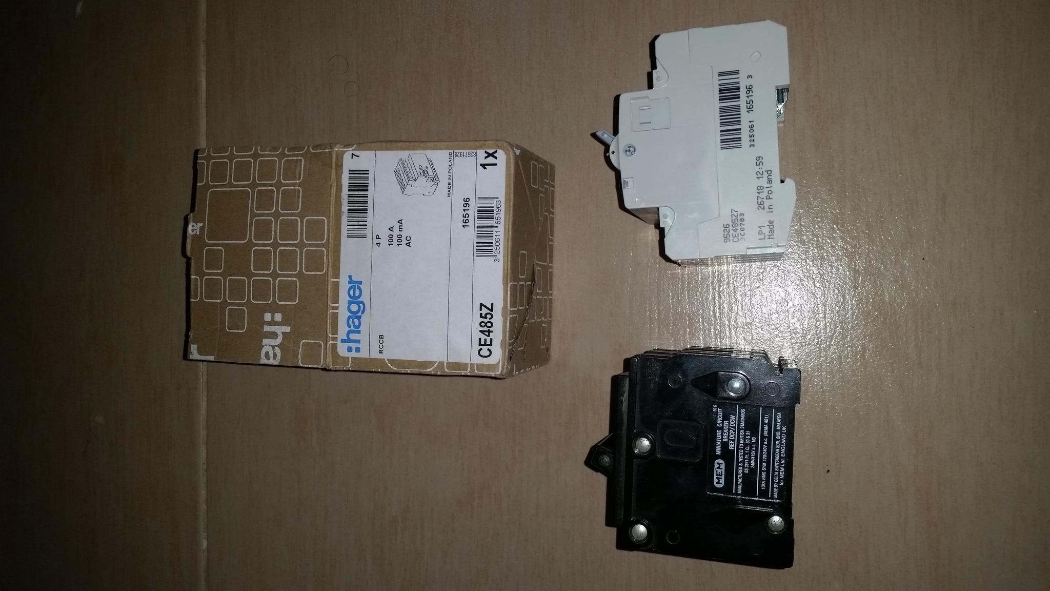 Two Electrical Circuit Breaker