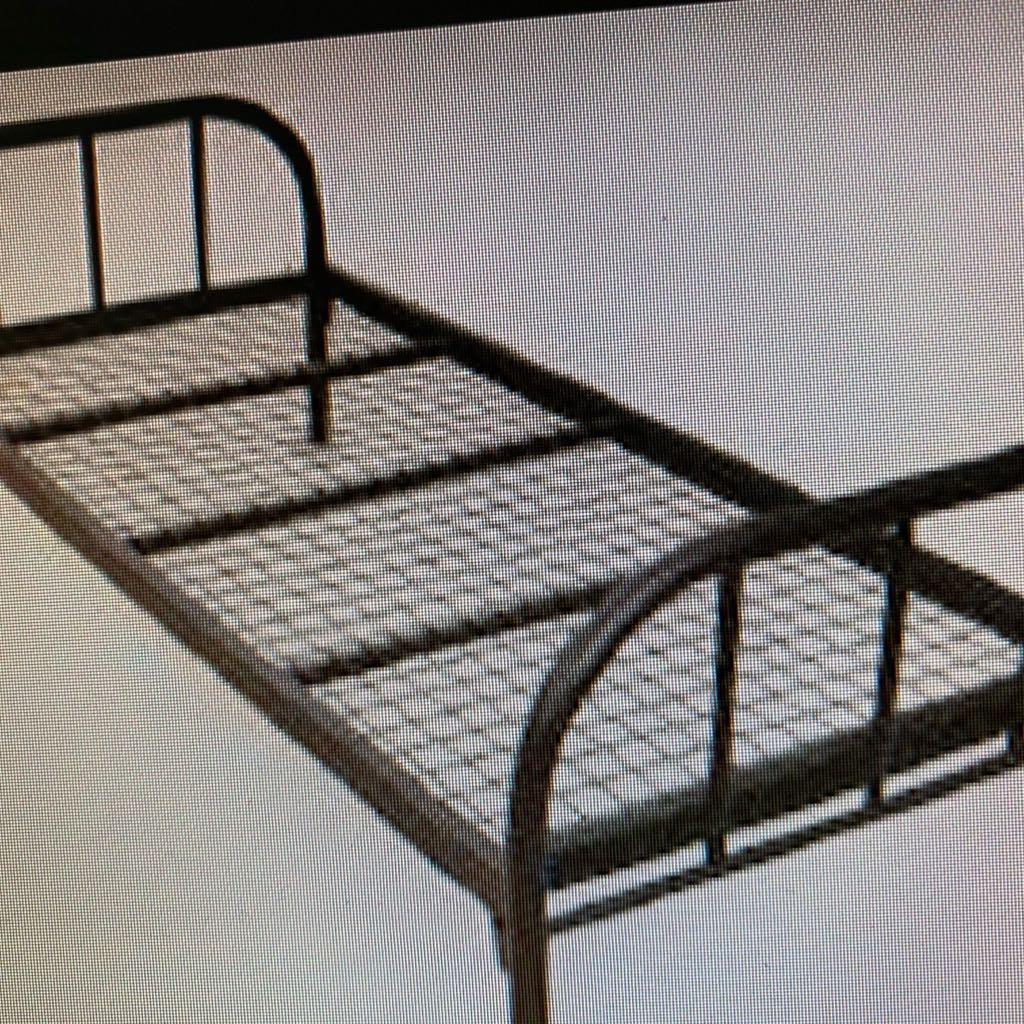 Used Single Steel Bed Frame & Mattress For Sale
