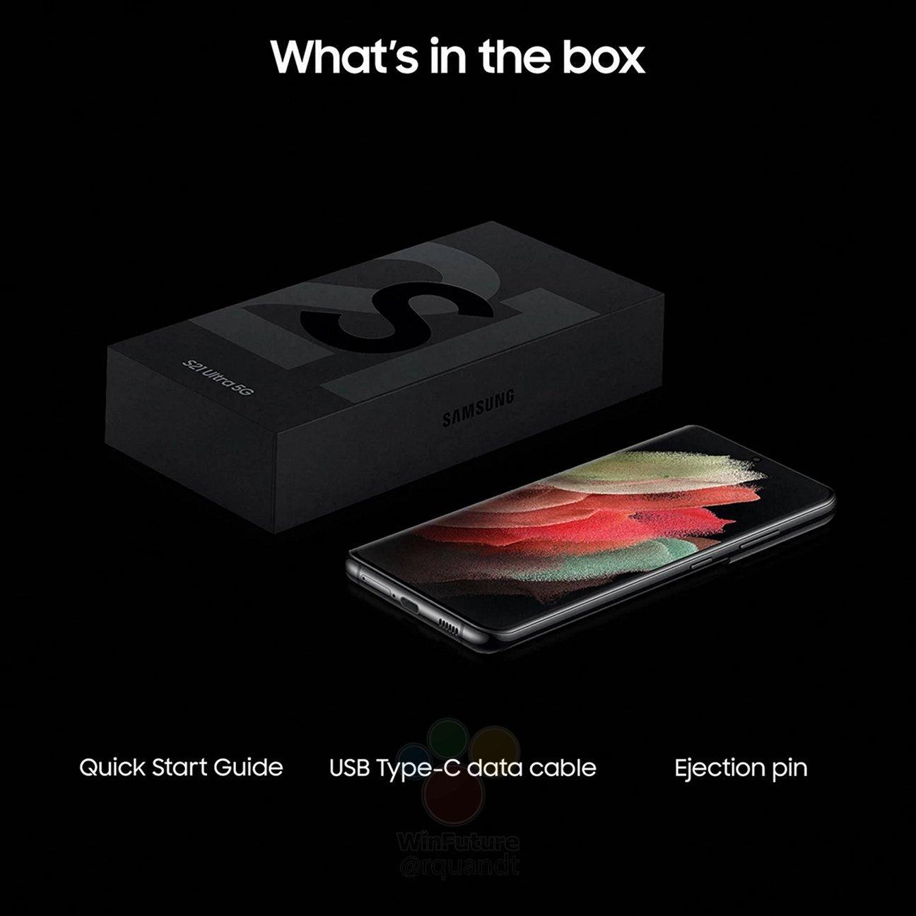 Samsung S21 Ultra 256GB Black (5G) with Galaxy Bud
