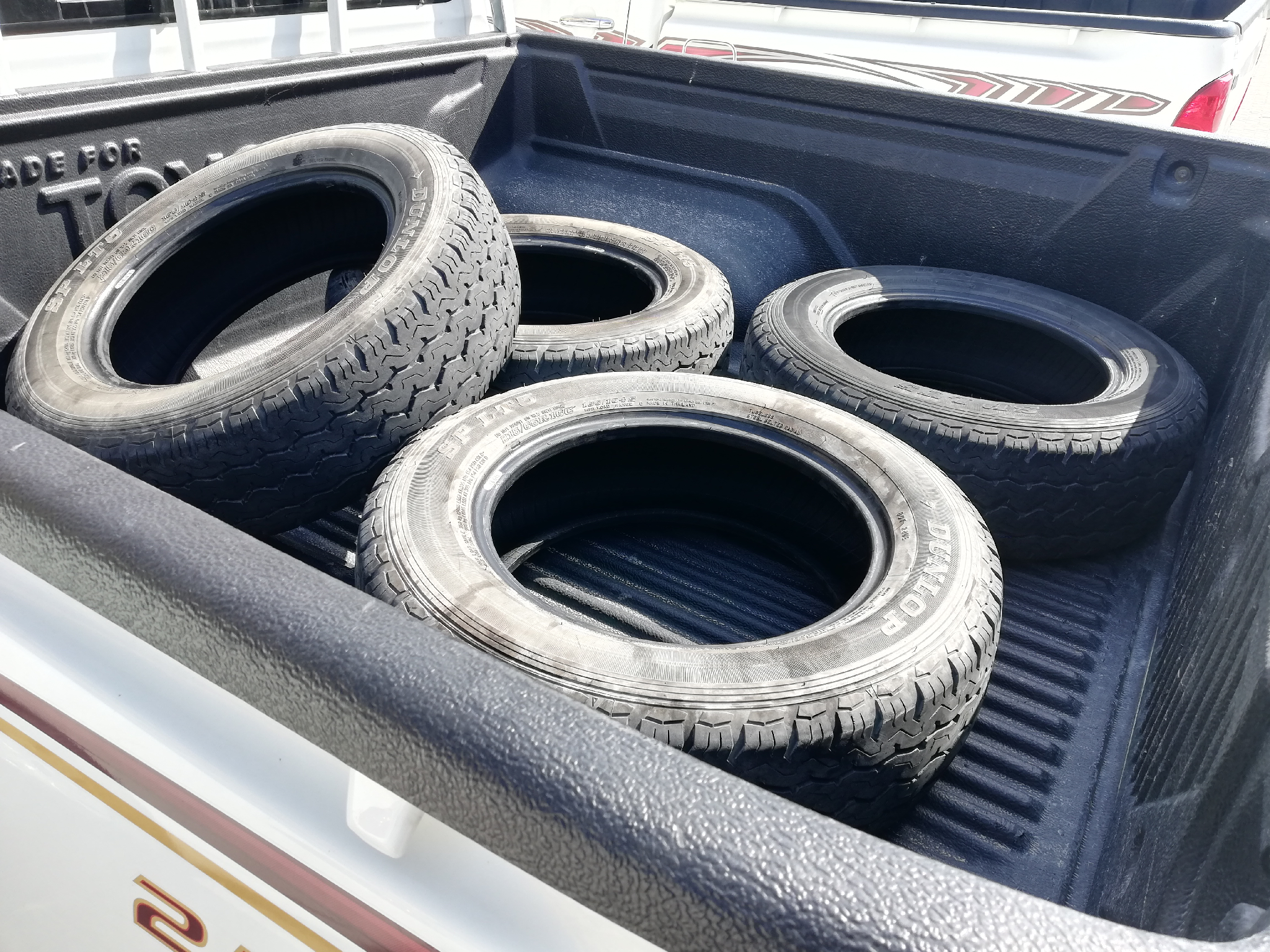 Used 4 Toyota hilux tyres.