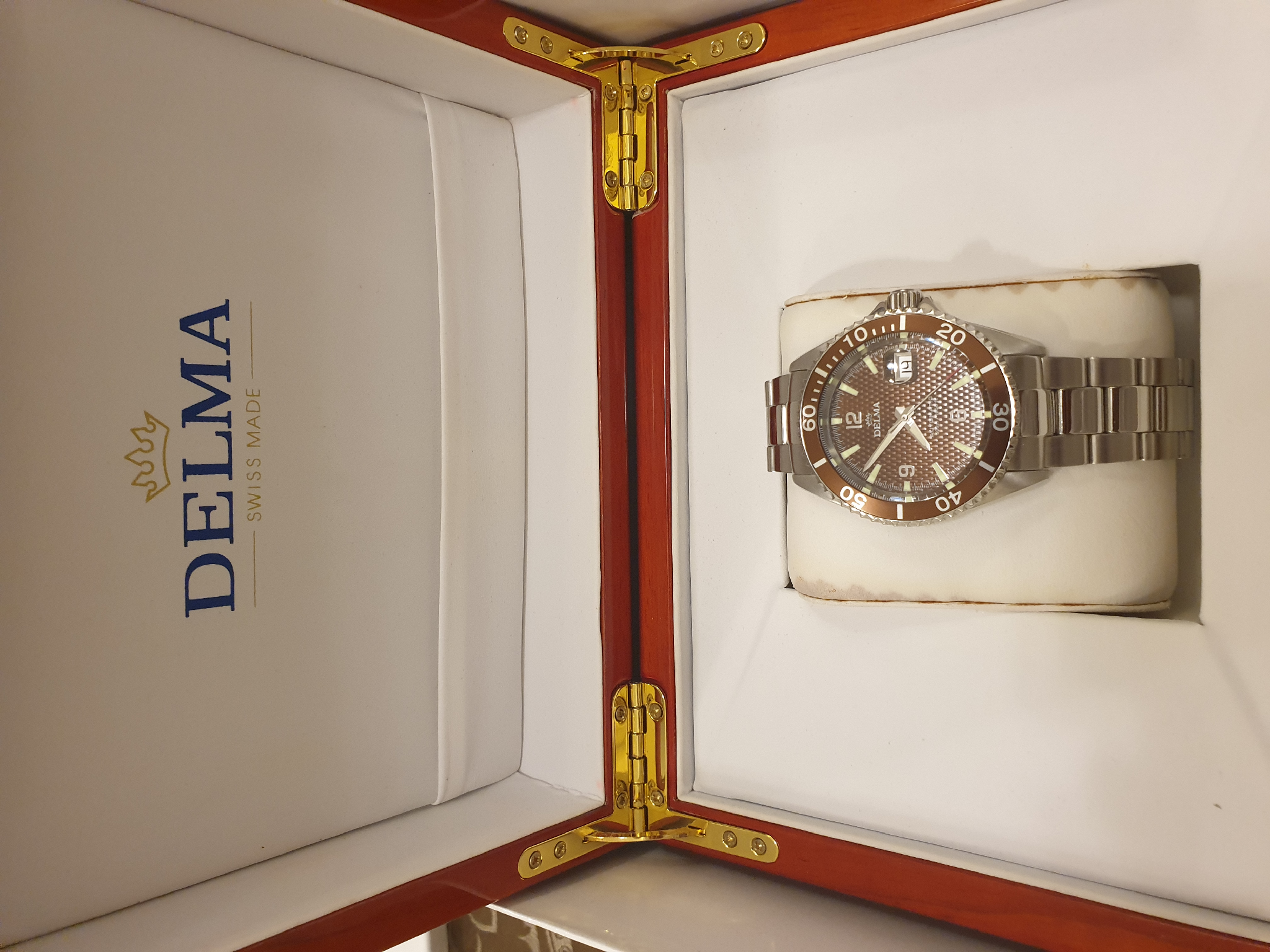 Brand new DELMA  Swiss made watch
