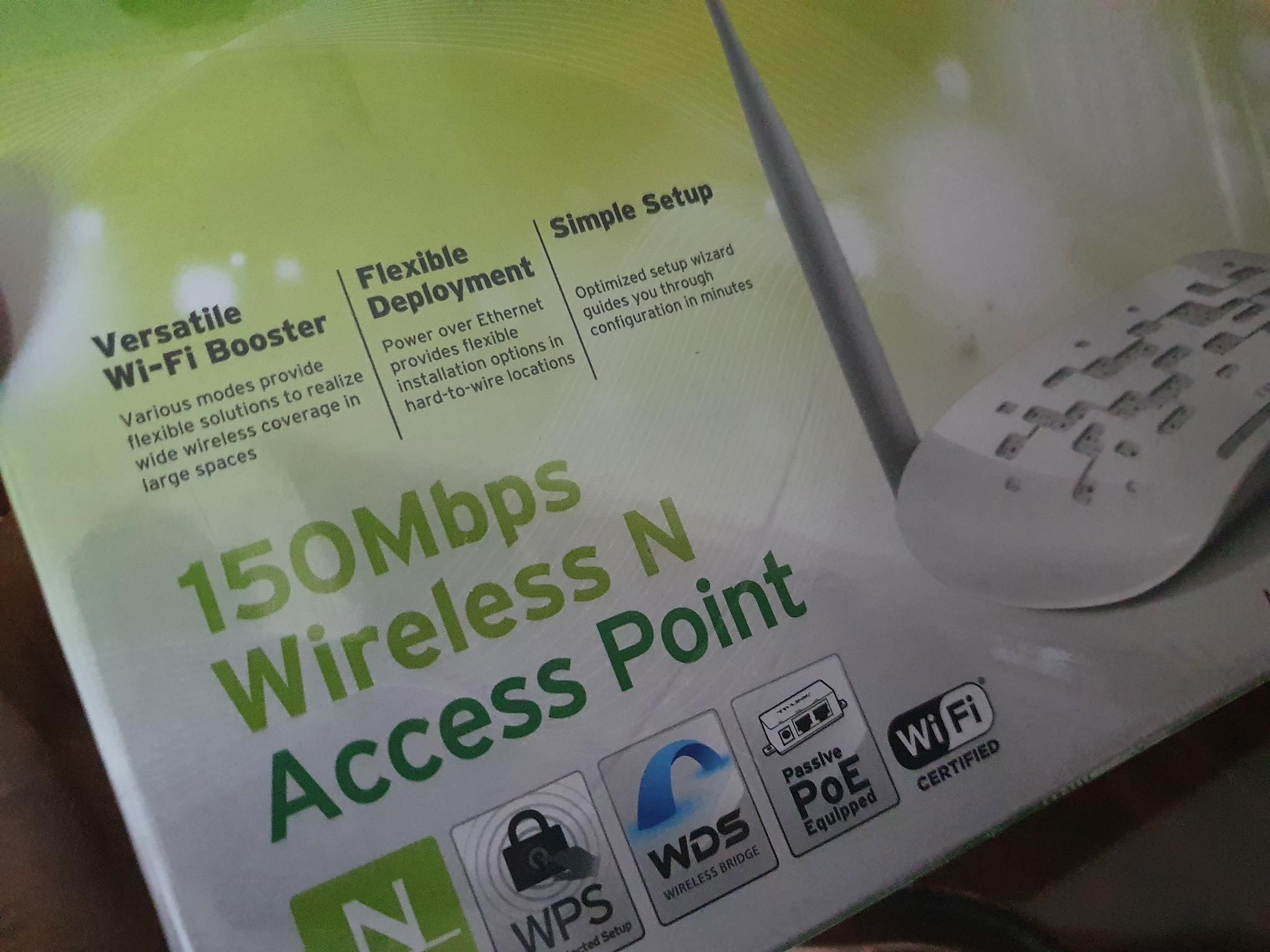 TP Link wifi access point and Wifi Range extender