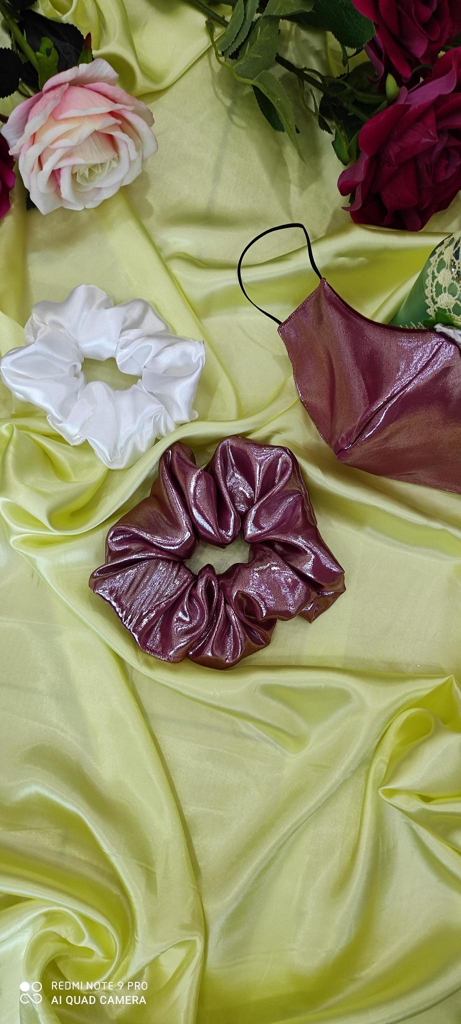 Party wear Masks with scrunchie