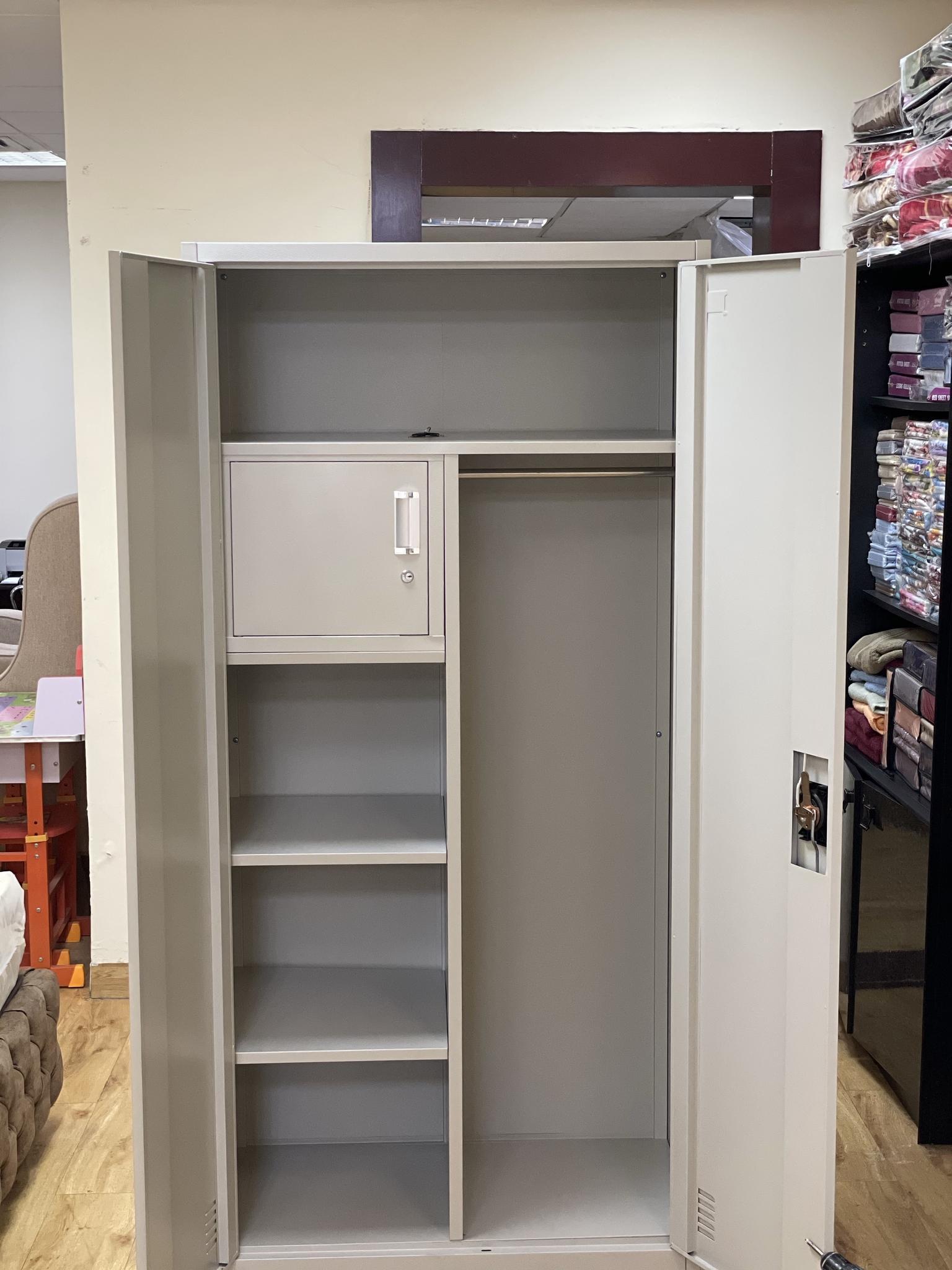 BRAND NEW TWO DOOR STEEL CUPBOARD CONTACT:77850533
