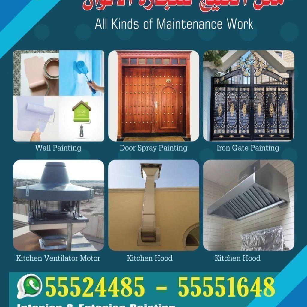 DOOR & WALL PAINT & KITCHEN HOOD SERVICE
