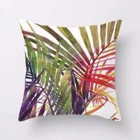 Brand New Cushion Covers - Tropical Leaf / Plants