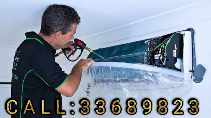 We Clean AC by water pressure, It is the best way