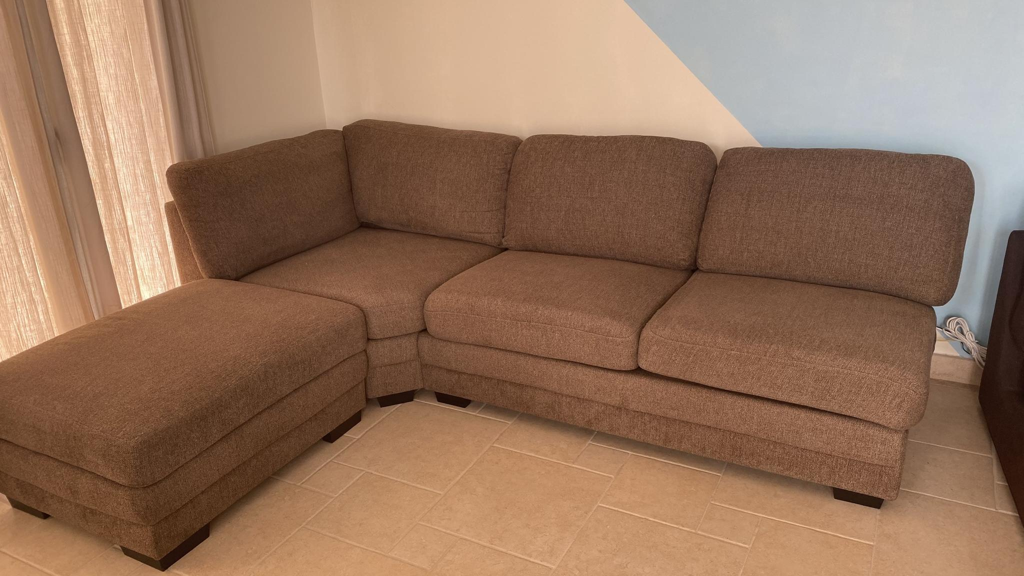 Brown Sofa - Used for less than 1 year