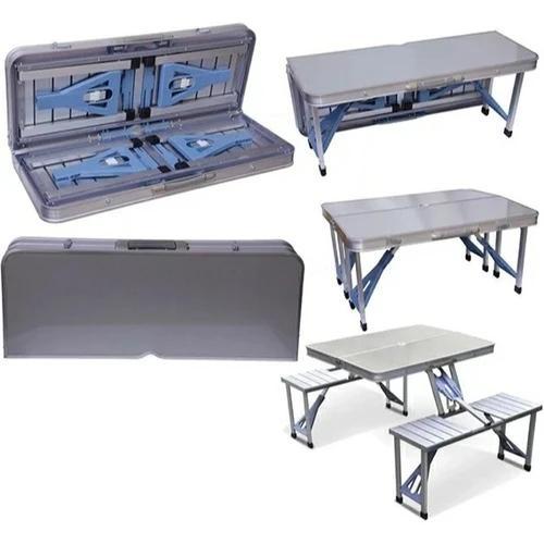 Outdoor Multifunctional Picnic Table, Aluminium Wi