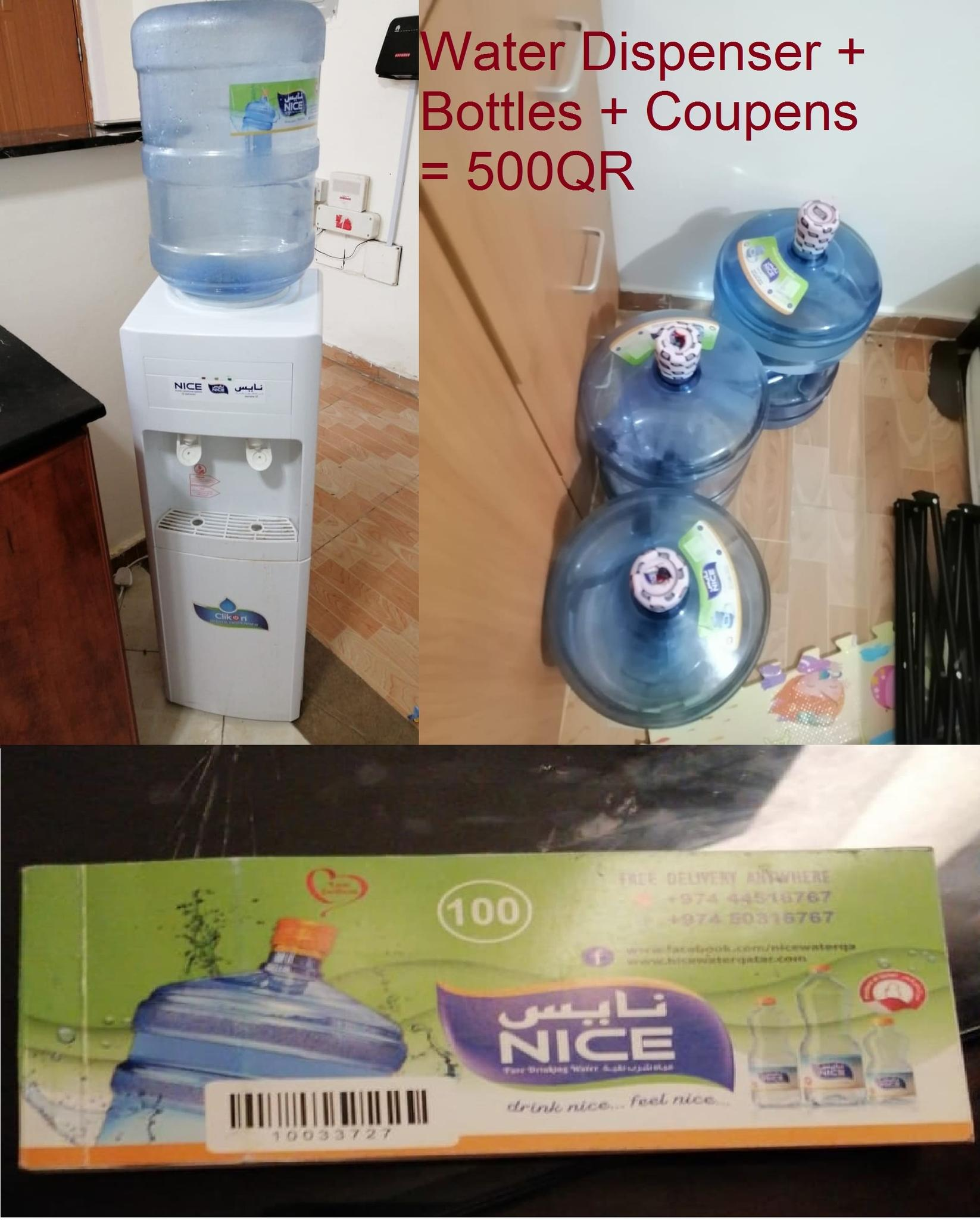 Water Dispenser+Coupons+Bottles and Sofa Covers