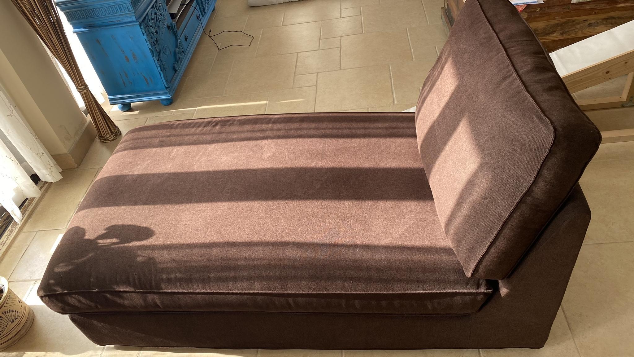 Long Sofa - Dark Brown Color SUPERB CONDITION