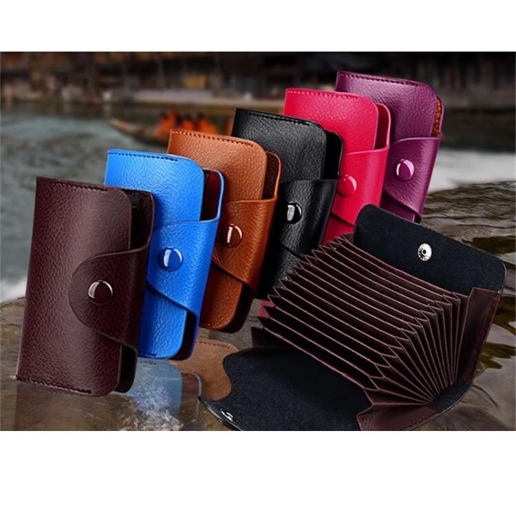Genuine Leather Card Wallet - So Many Colors