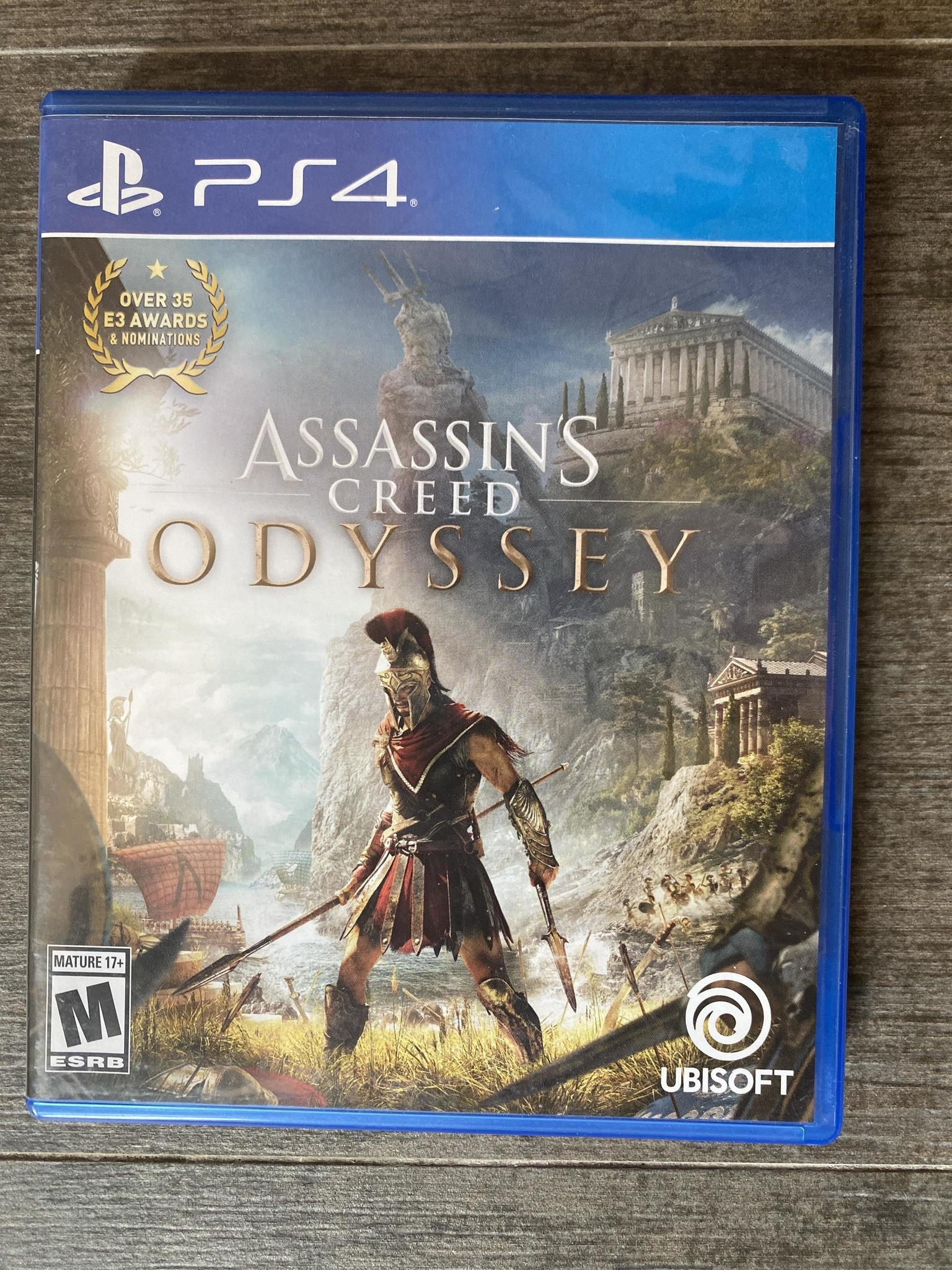 Playstation game ps4 assasins creed odyssey