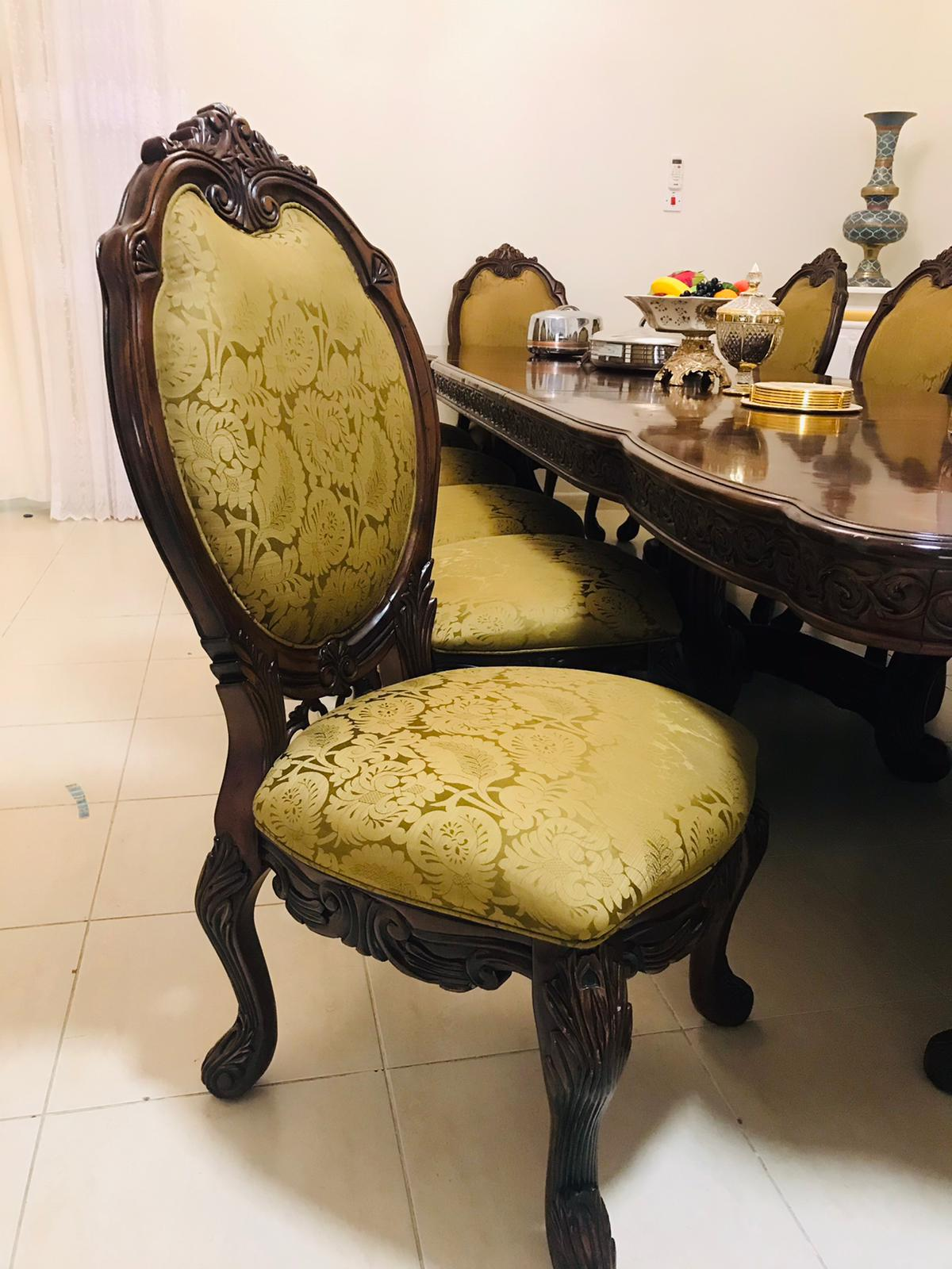 Classic dining table with 12 chair