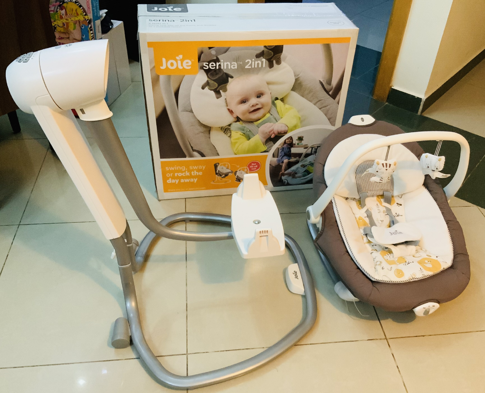 Almost unused Joie Serina 2in1 baby electric swing