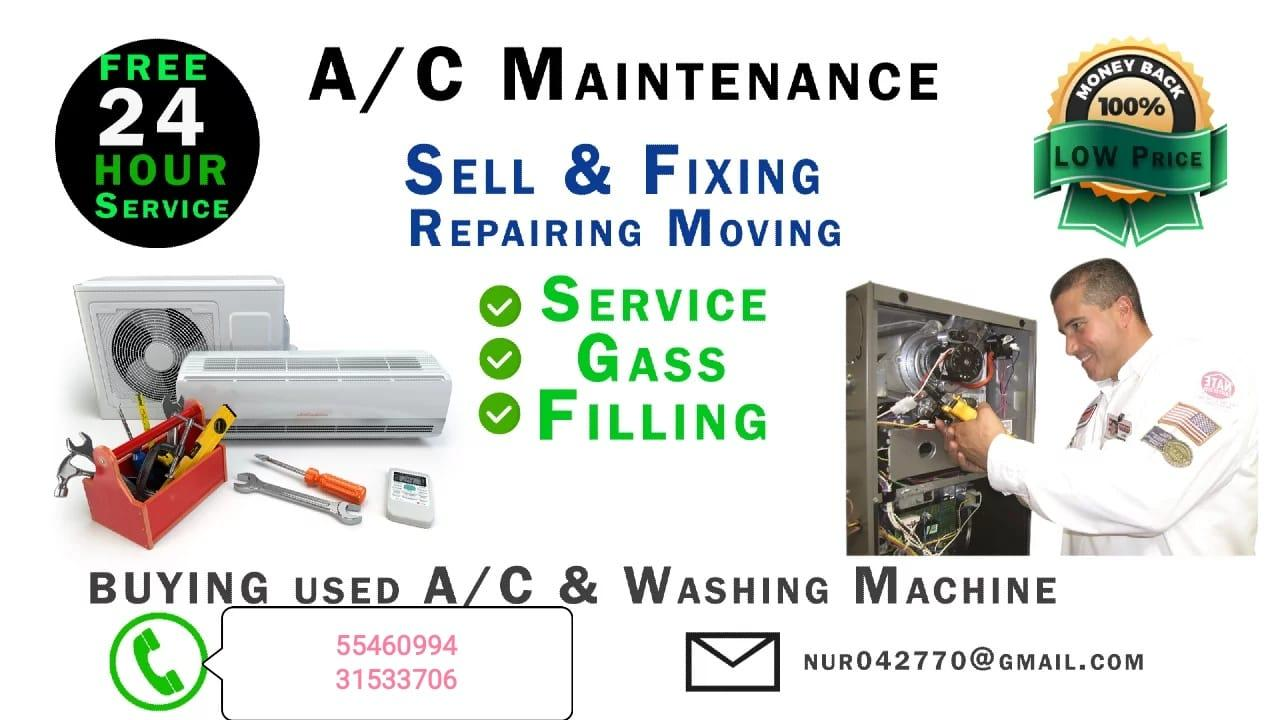 A/C all kinds of Maintenance services.repair, gas