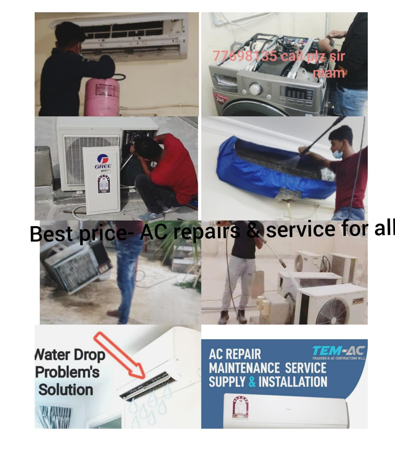 Best price- AC repairs & service for all types of