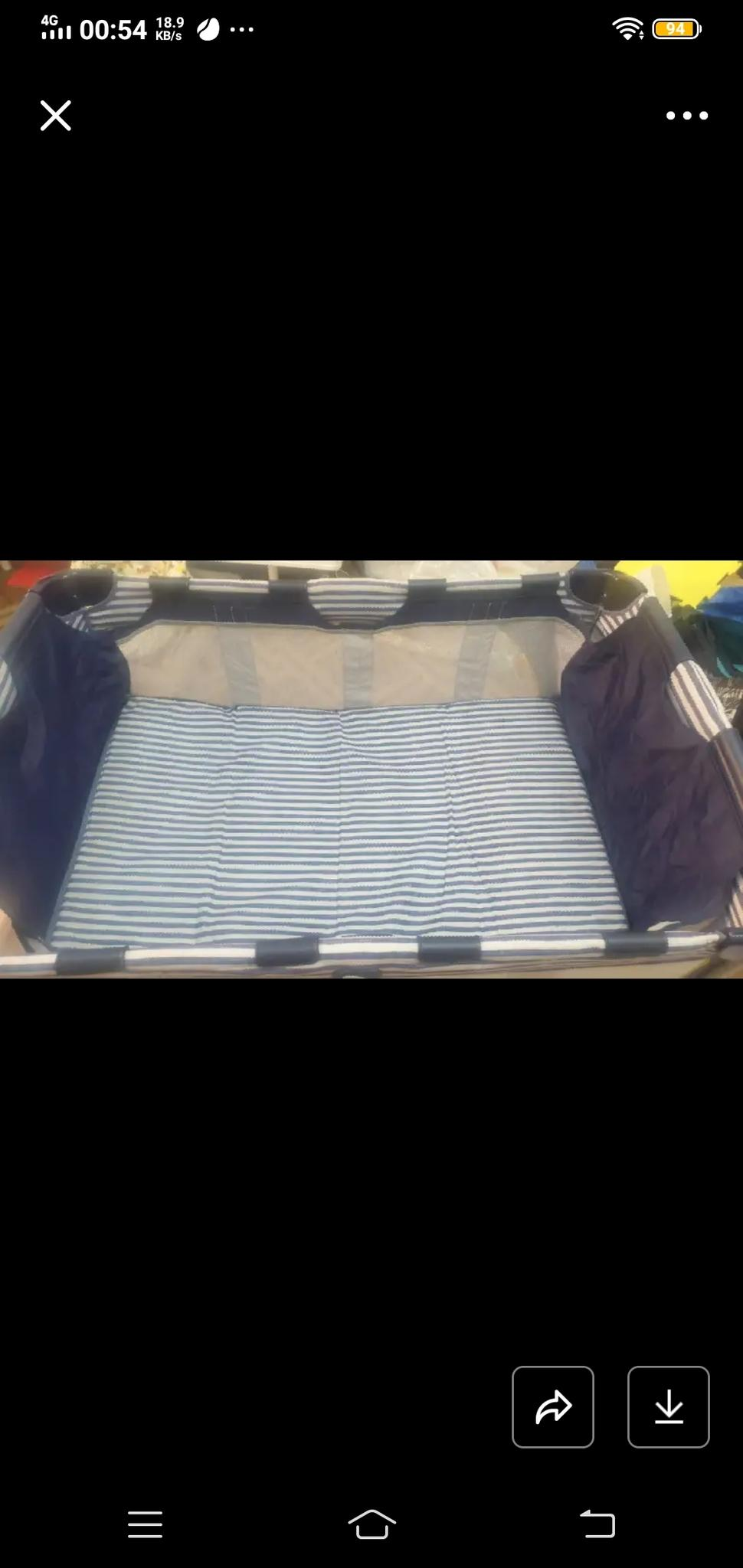Foldable Baby bed with mattress