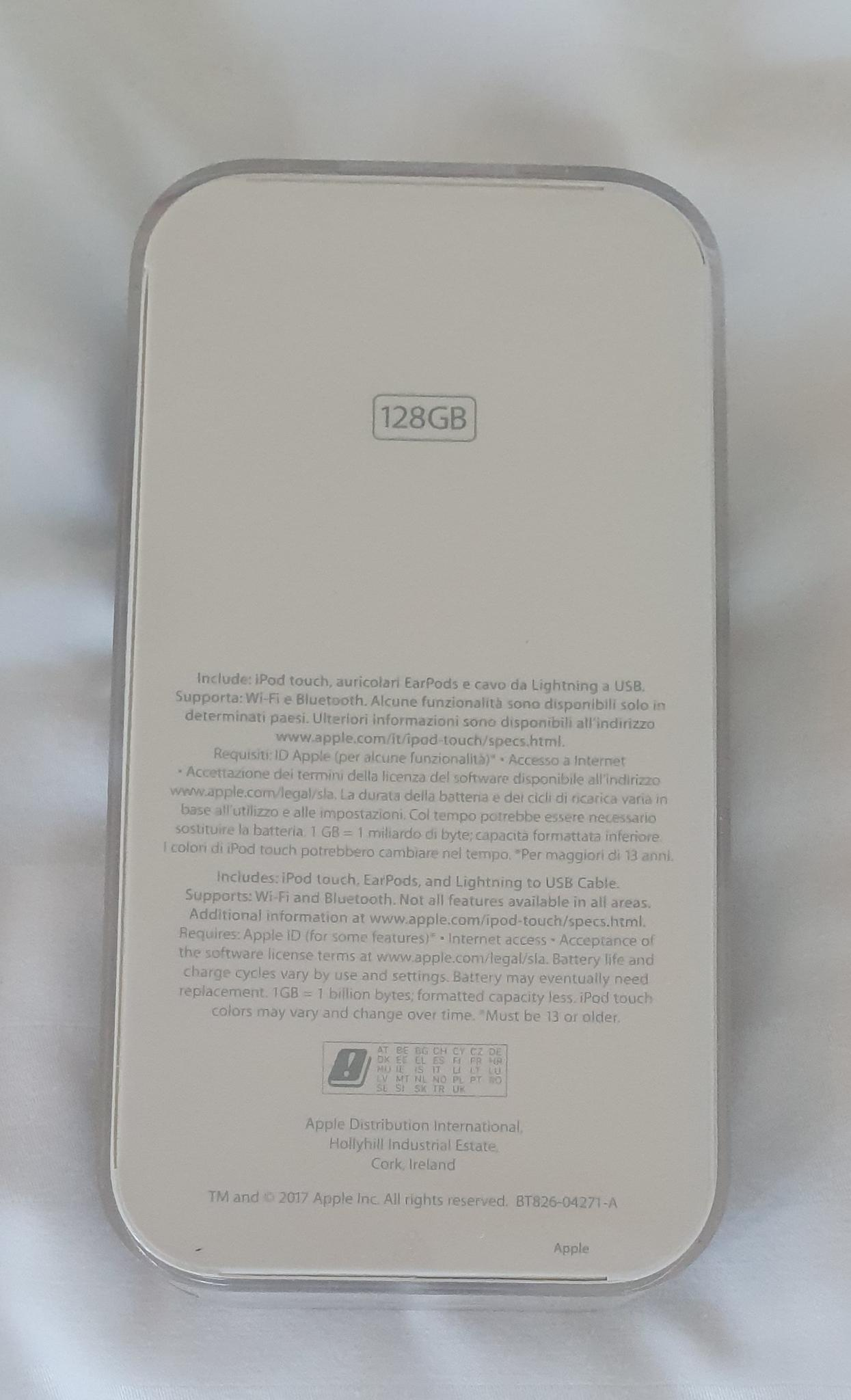 Touch IPod 128gb, new (open box)