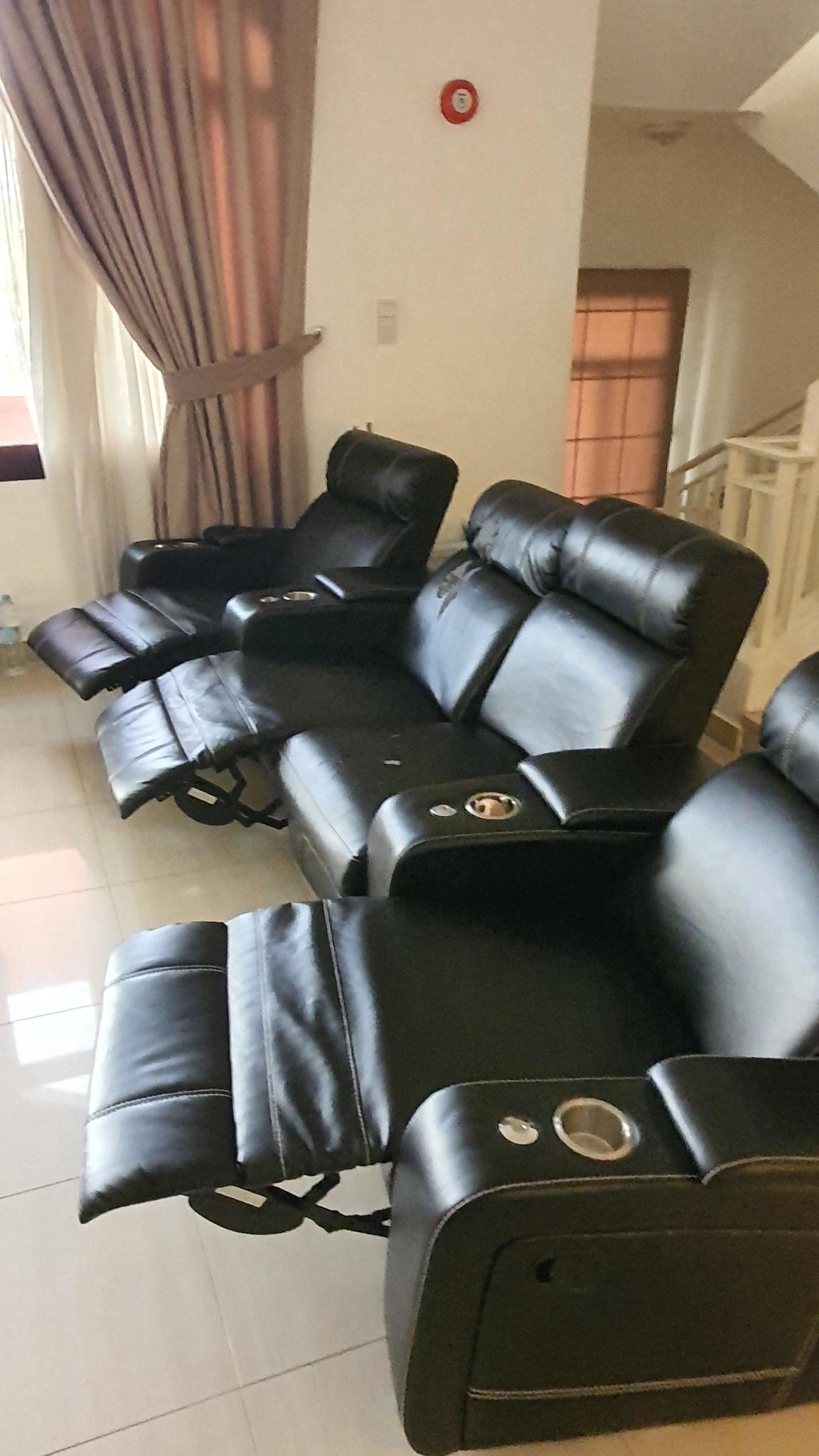 Home Theater Couch Recliner Set
