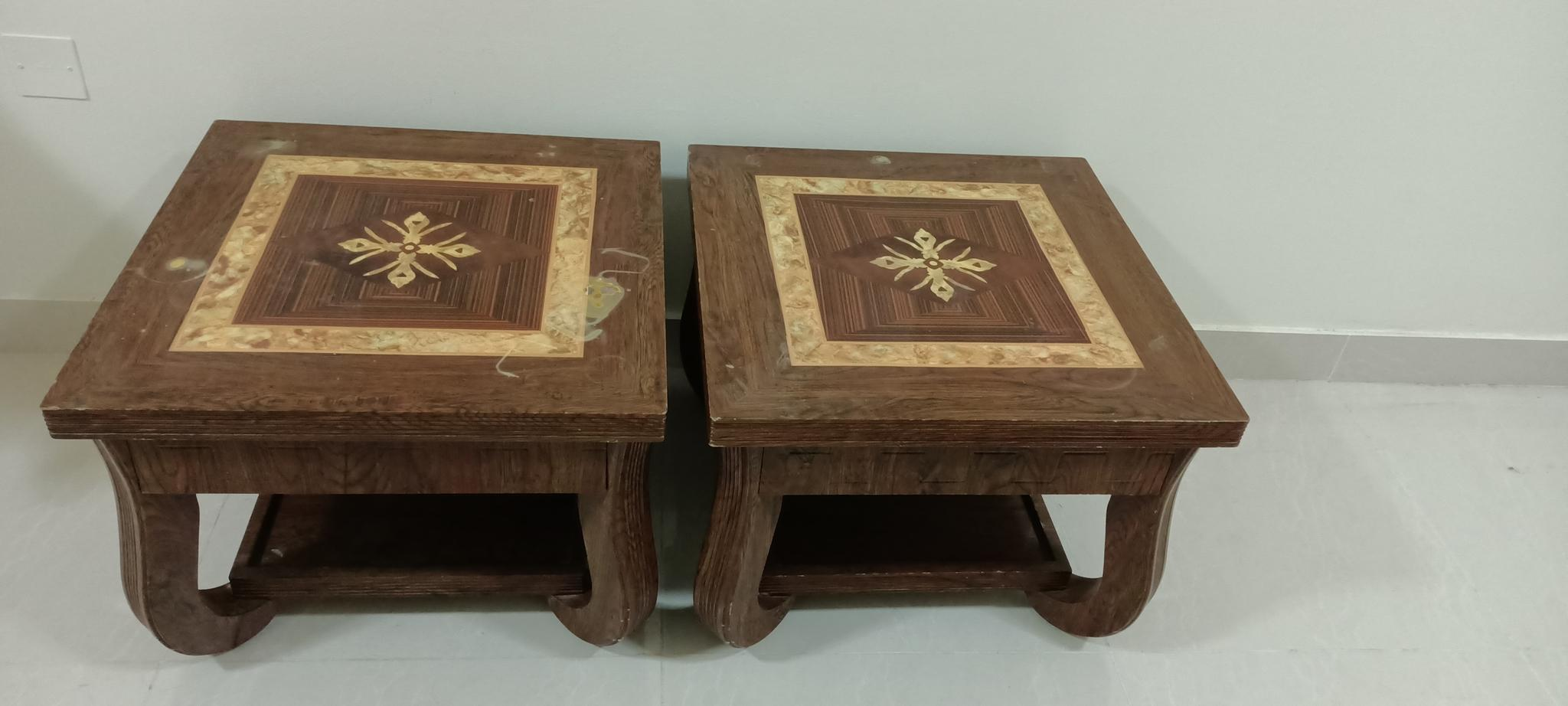 Center table plus side tables-set of 3 very strong