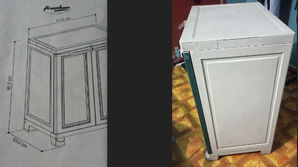 Plastic mini cupboard Nilkamal for QAR 80 /-